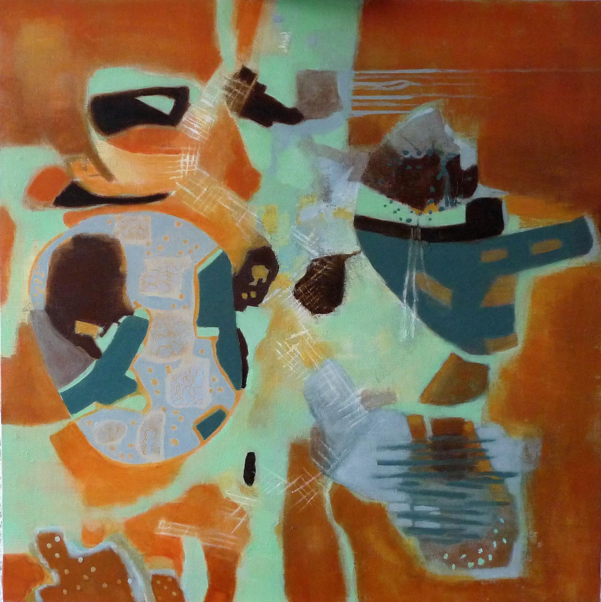 Territoire d'exil - 2018 - acrylique sur toile - 100 x 100