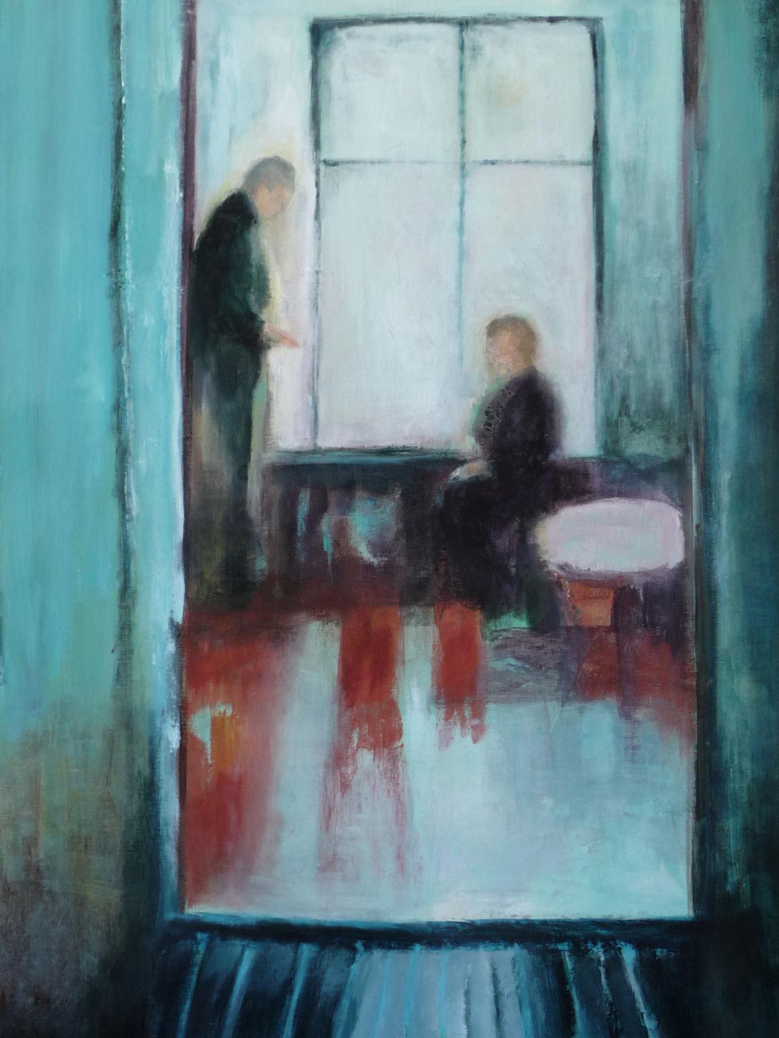 Conversation - Hommage à Tarkovsky    ---   2010 - Acrylique sur toile - 100 x 75 cm