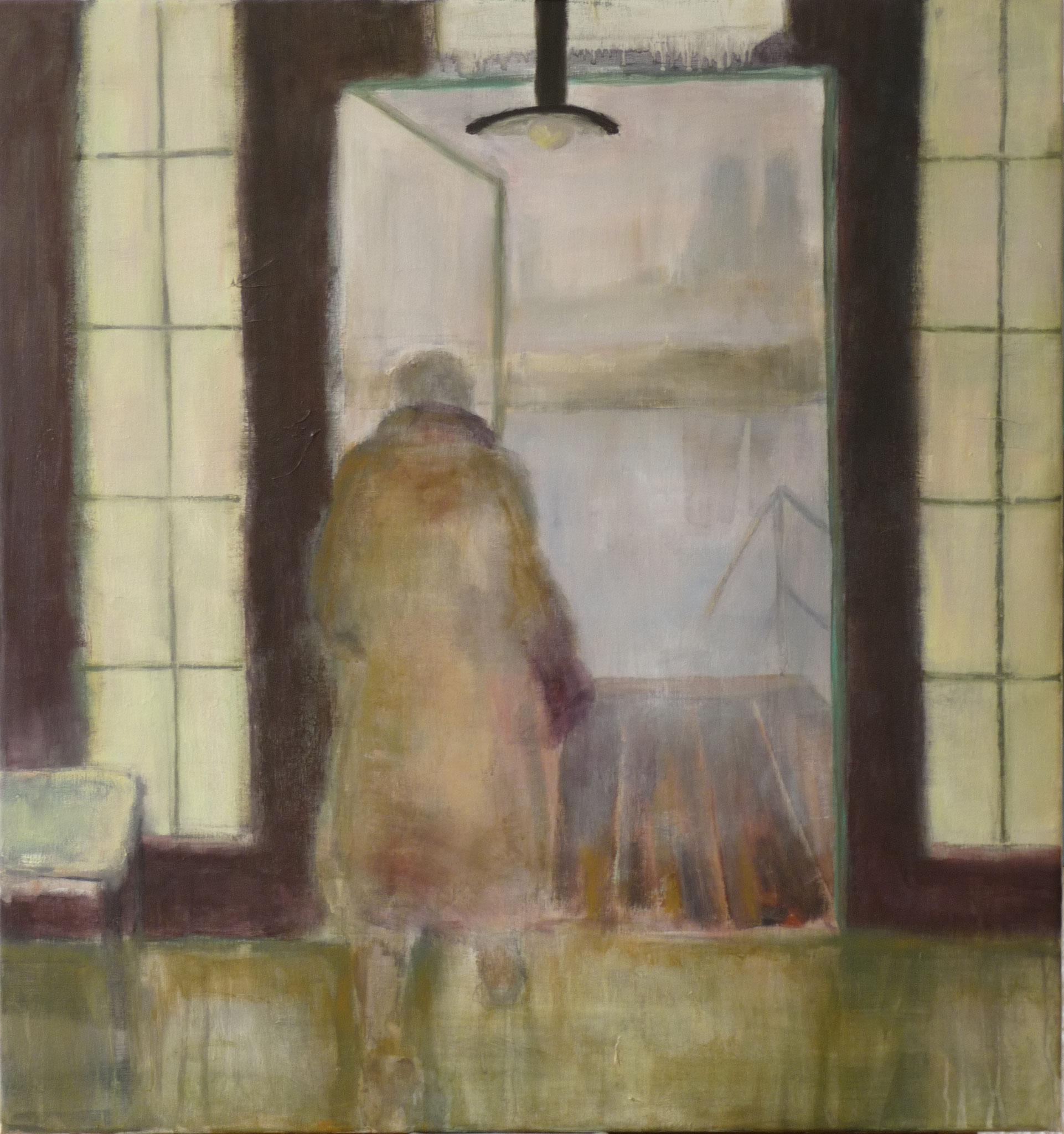 On threshold - Hommage à Tarkovsky   ---   2012 - Acrylique sur toile - 80 x 80 cm