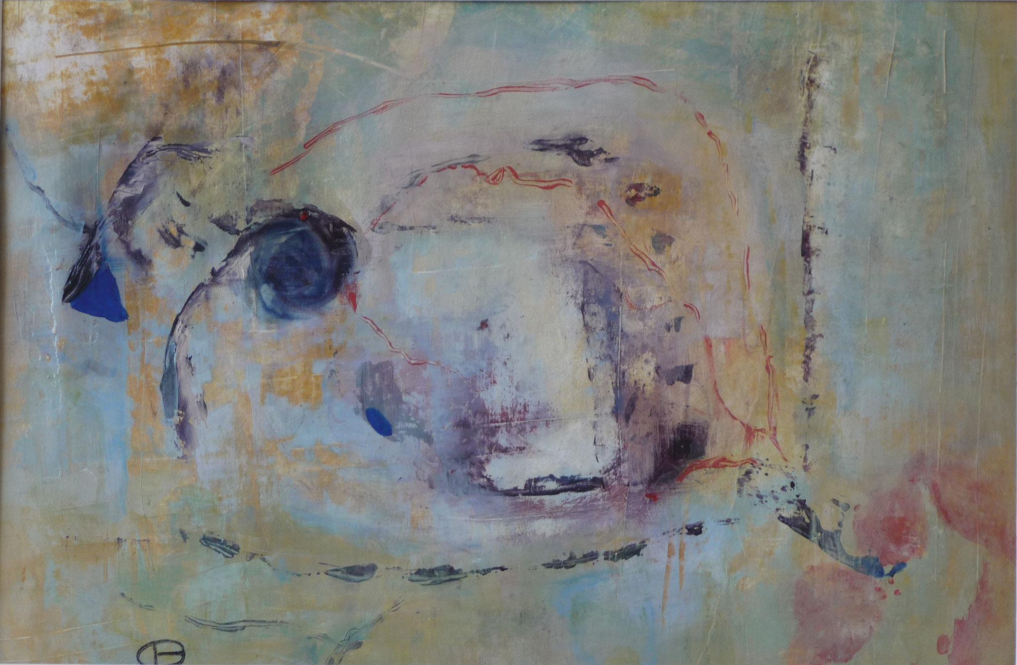 Planche de mémoire 1   ---   2010 - Acrylique - 45 x 60 cm