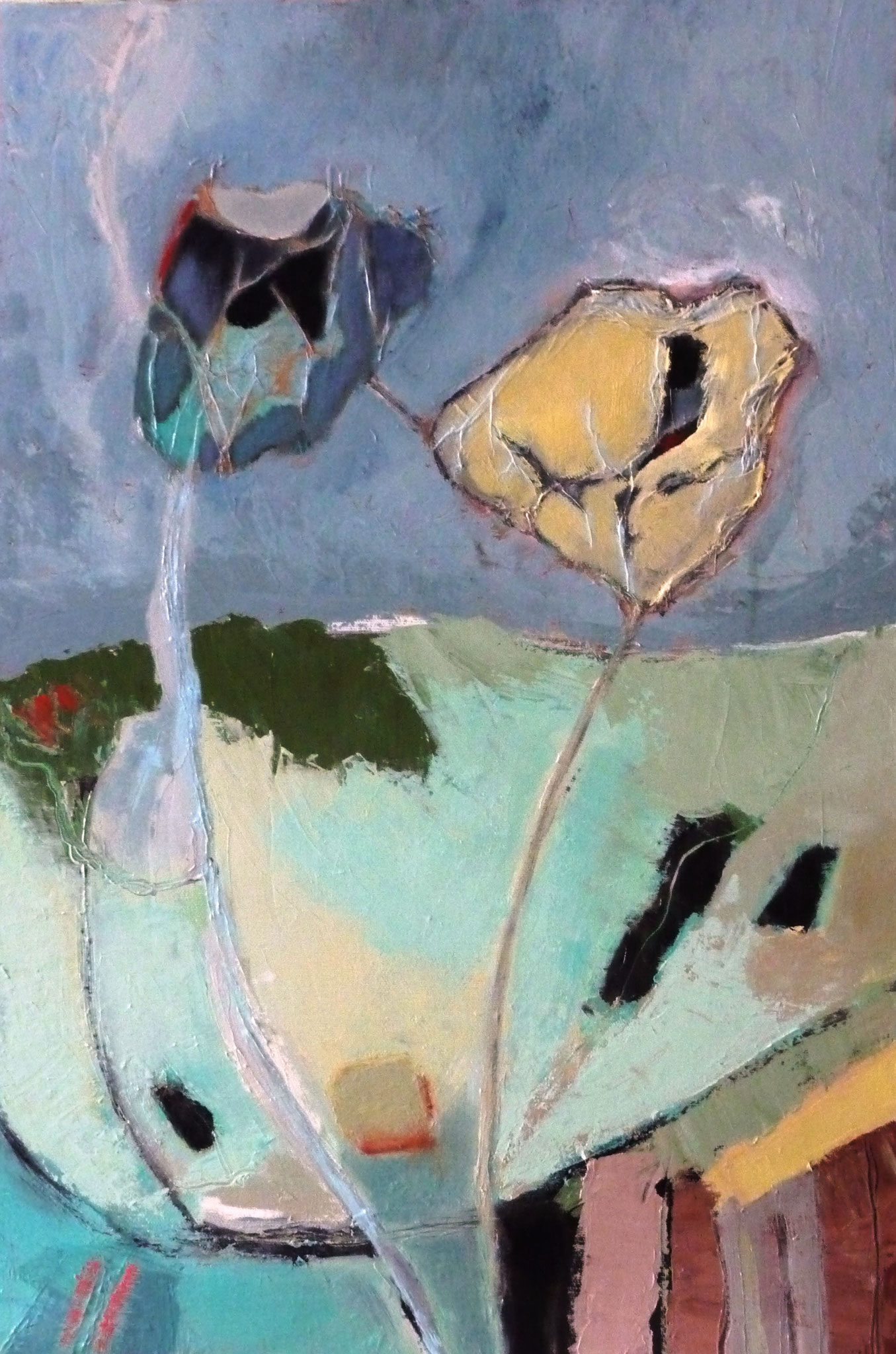 Wandering   ---   2012 - Acrylique - 60 x 45 cm