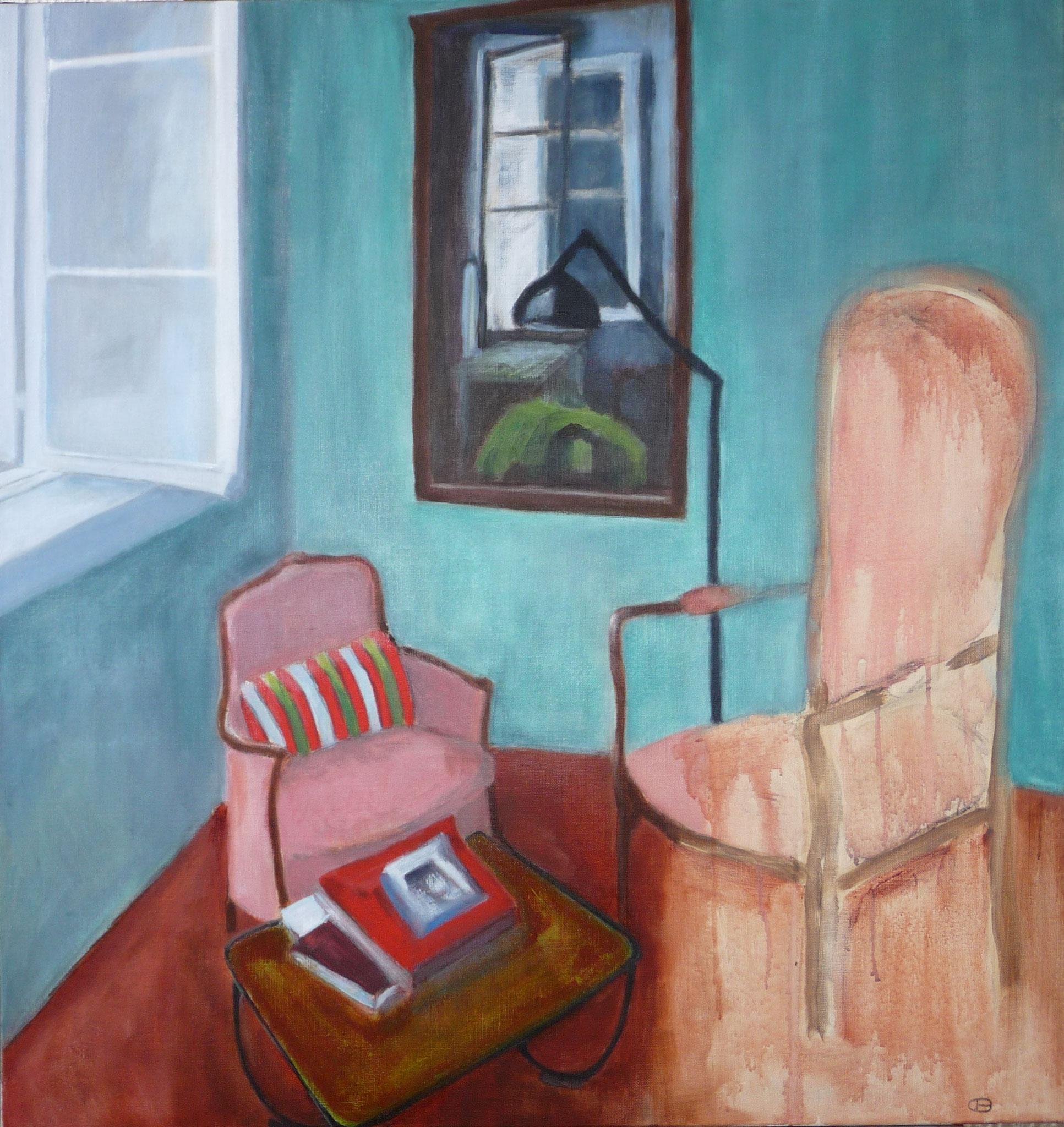 L'absence   ---   2016 - Acrylique sur toile - 96 x 90 cm