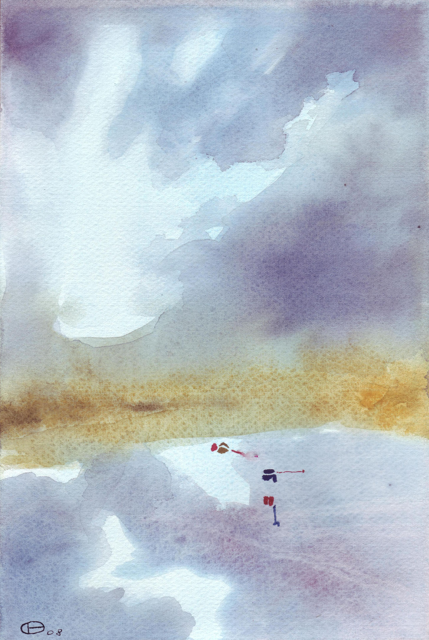 Vol aquatique 6   ---   2008 - Aquarelle - 20 x 30 cm