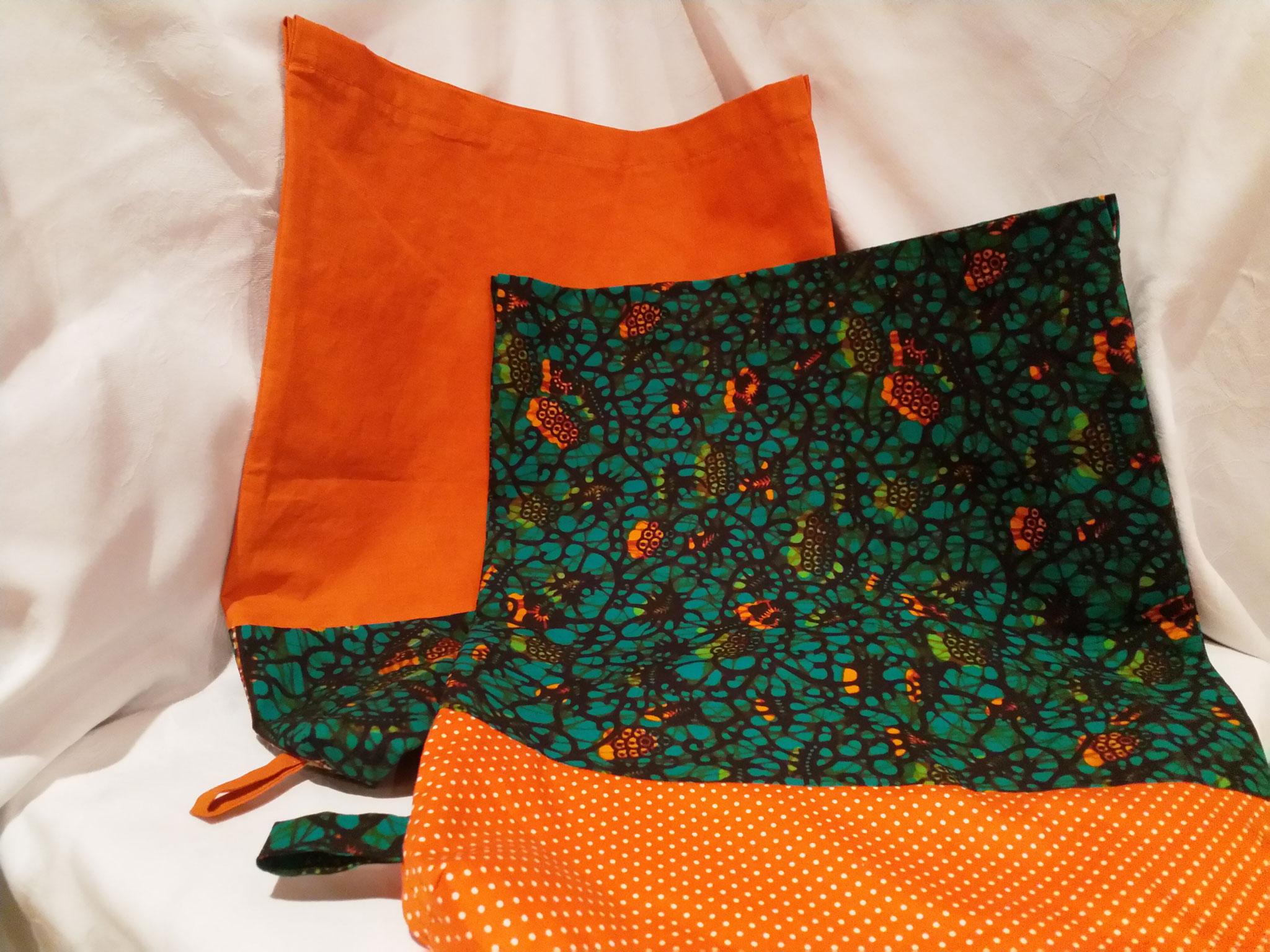 1 Hippsterbeutel grün-orange