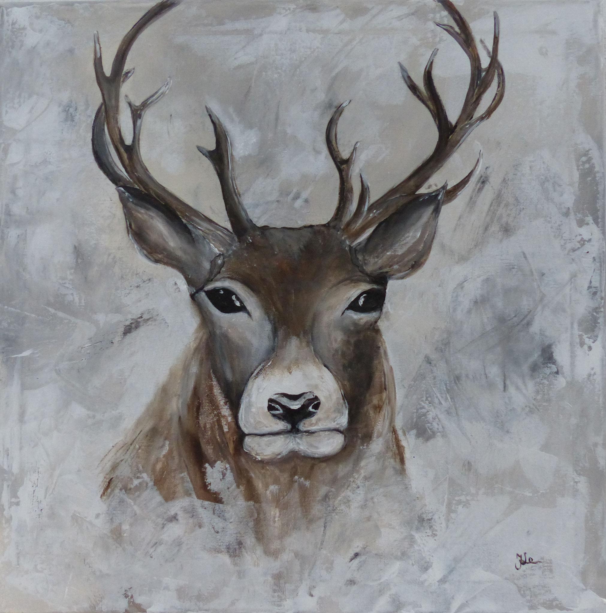 Hirsch /40 x 40 cm
