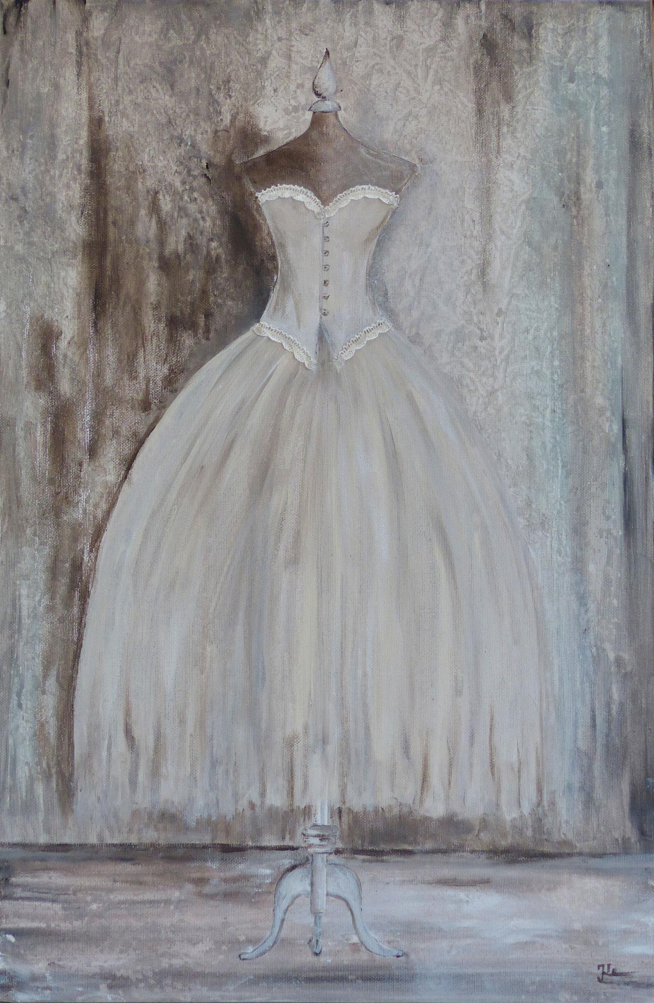 Kleid in Acryl 2 /40 x 60 cm