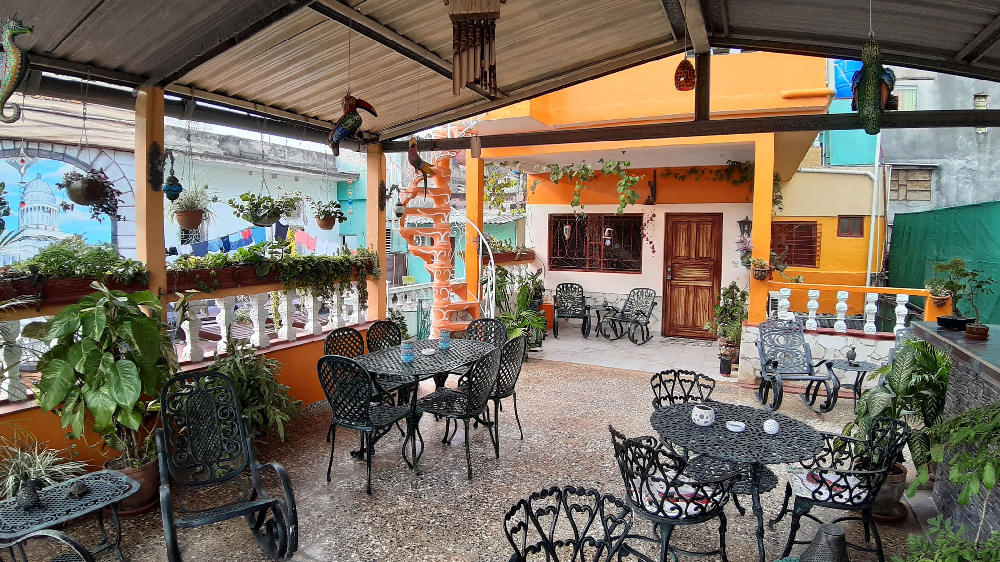 Terrace of Casa Sol y Salsa with view to apartment for rent