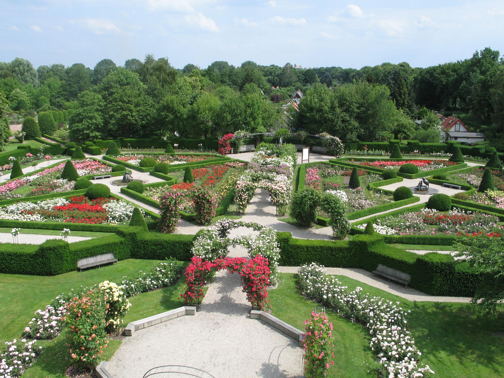 Luftbild Rosengarten (© Grün Berlin)