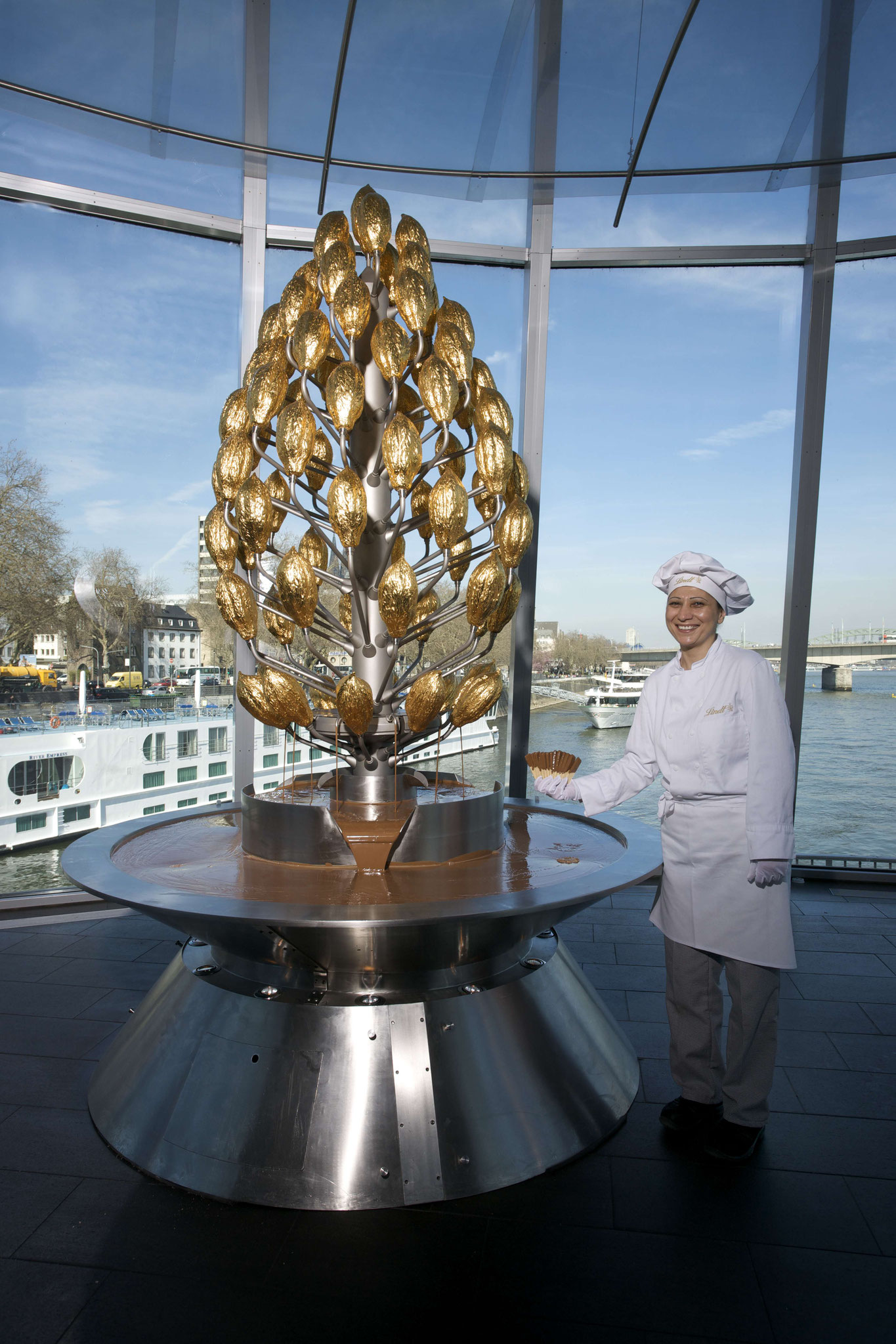 Der Schokoladenbrunnen, © Schokoladenmuseum Köln
