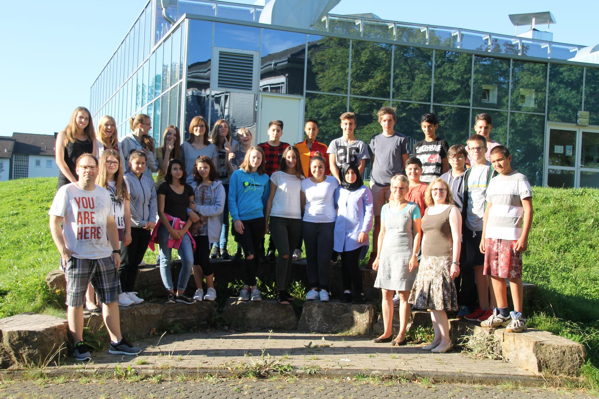 Klasse 8c: : Klassenlehrer Frau Drach, Frau Baltes und Herr Clever