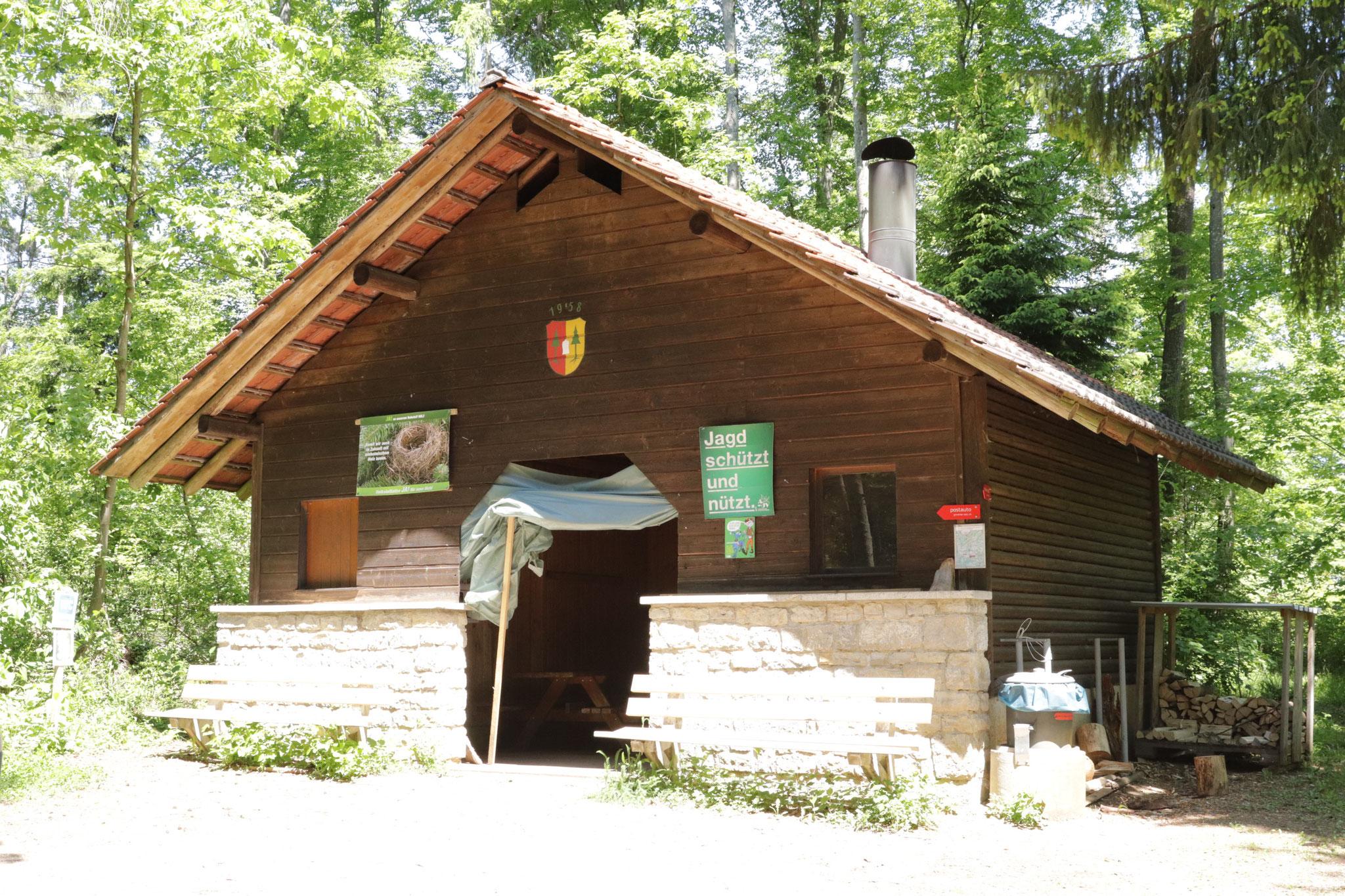 Das Ziel: Waldhütte Genter ob Sulz