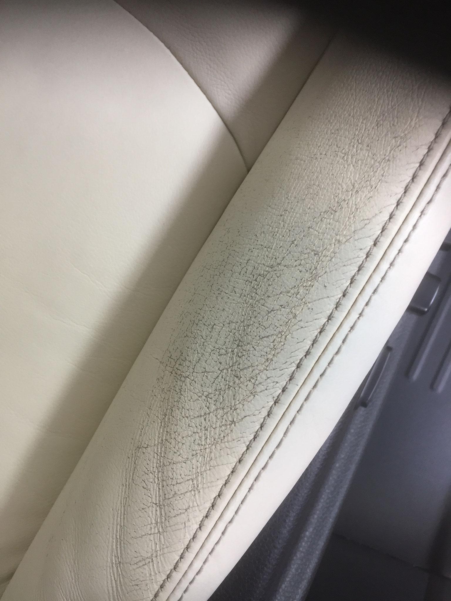 レザーシートの擦れ 施工前