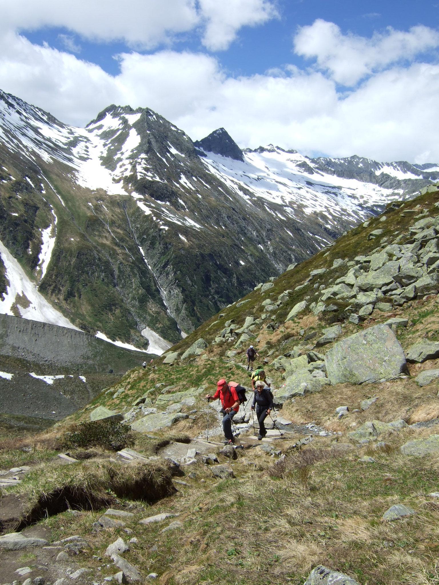 auf dem Weg zur Warnsdorfer Hütte
