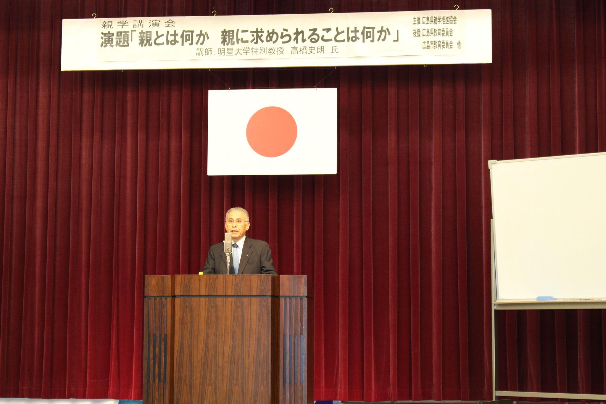 本会会長 上野学園理事長 上野淳二より挨拶いたしました。