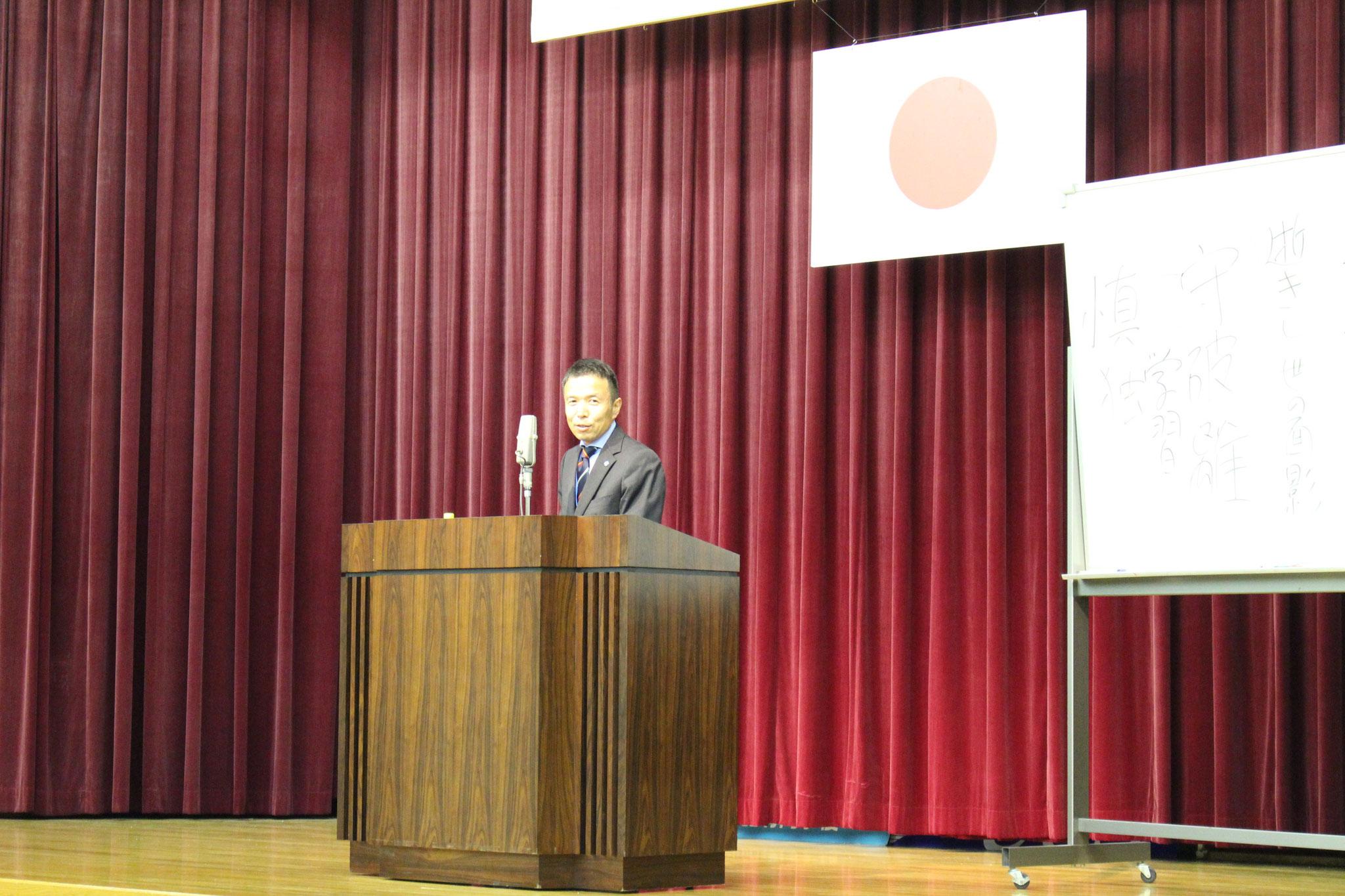 本会副会長 TOSS広島代表の今井豊より「第1回 広島県親守詩大会」の案内をいたしました。