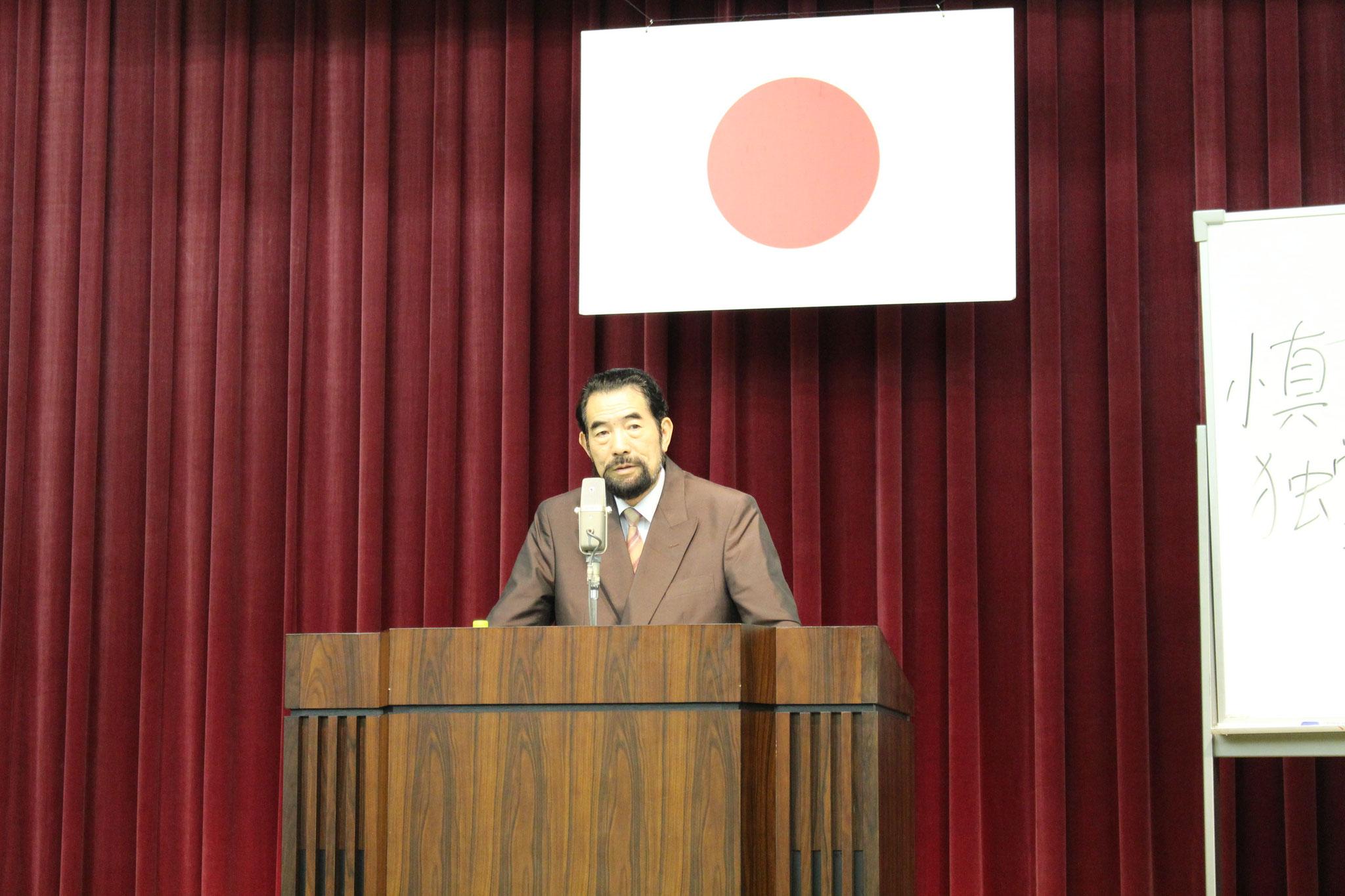 明星大学特別教授 高橋史朗先生に登壇いただきました。