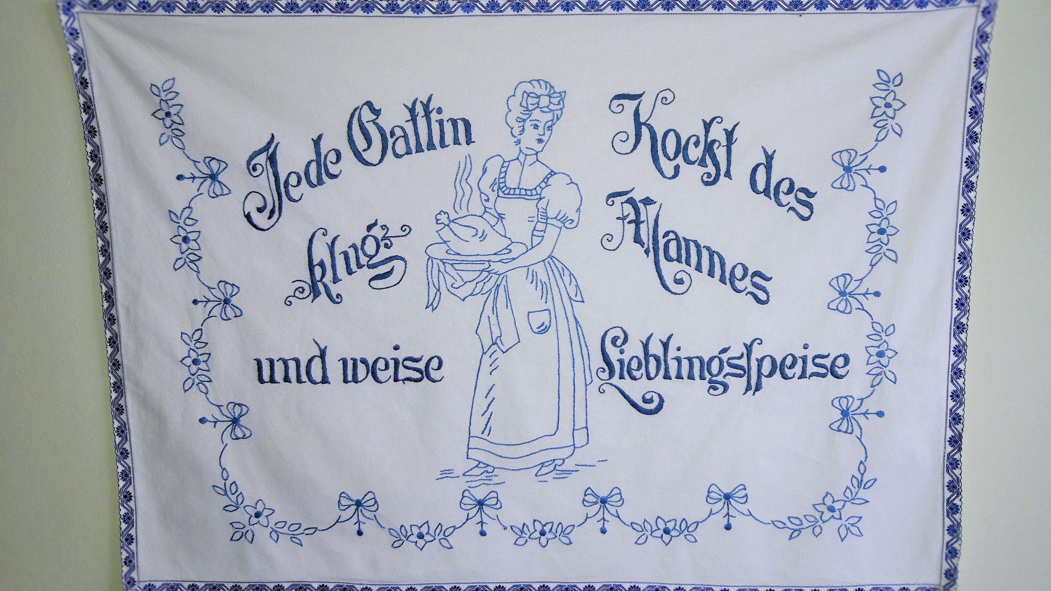Wandbehang in der Wohnküche (c) Maria Felhofer
