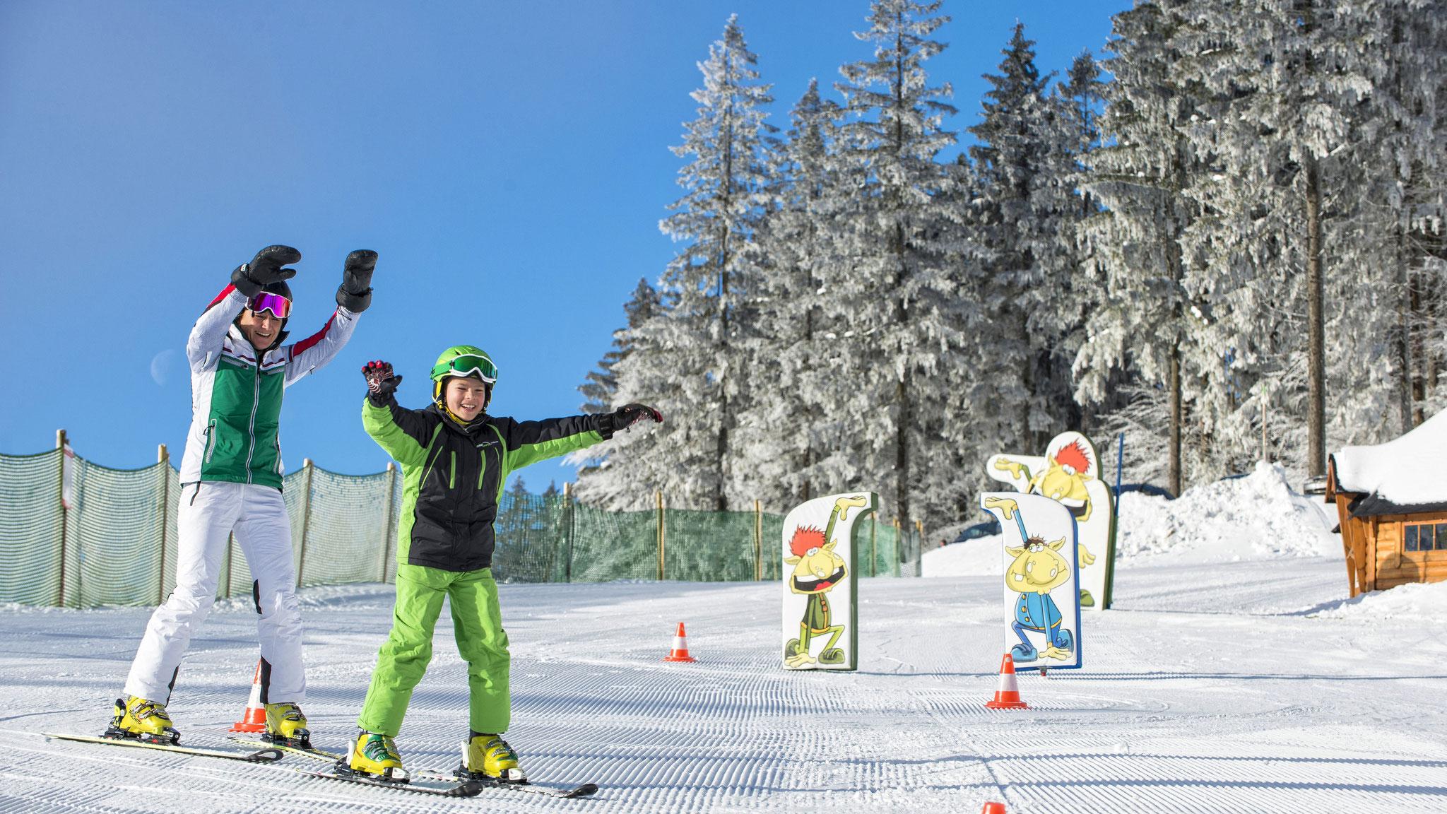 Skilaufen lernen bei Profis  - die Skischule (c) OÖ Tourismus GmbH | Erber