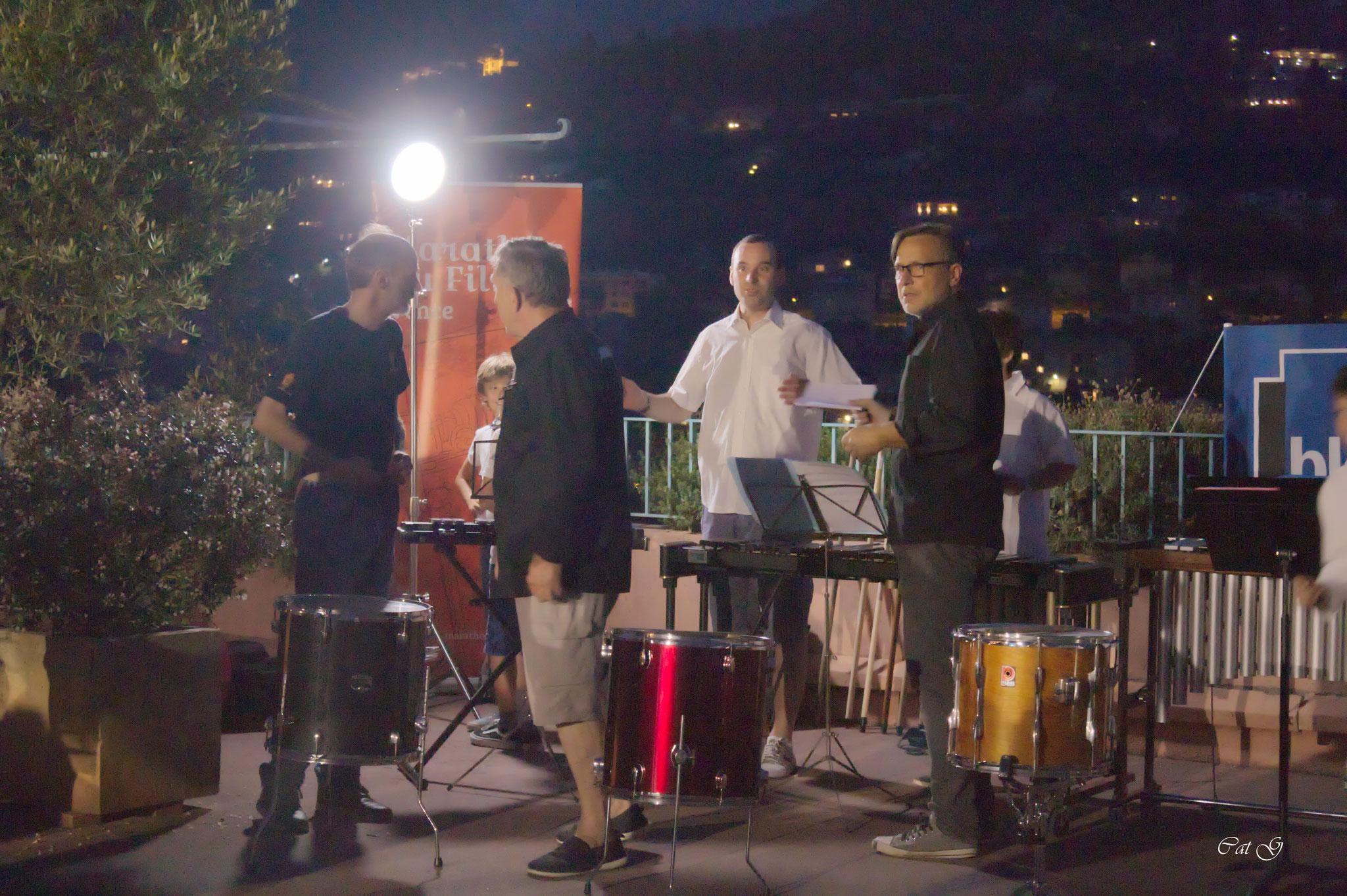 Frederic, Andre, Gregory (Professeur de percussion au concervatoire de Vence) et David