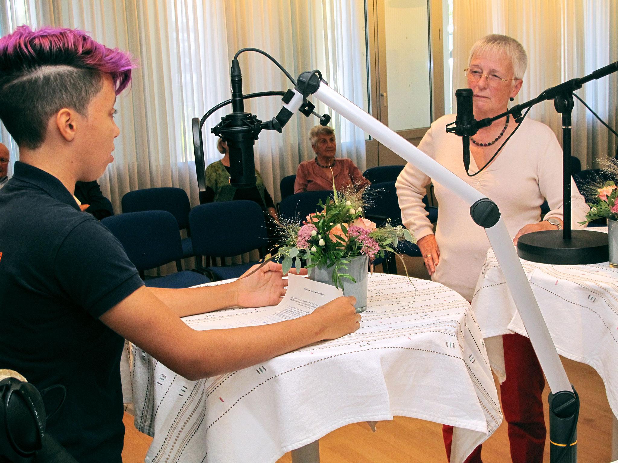 Ursula Rausser zu den Bildern von Fernand Sepp Rausser im Gespräch mit Belén