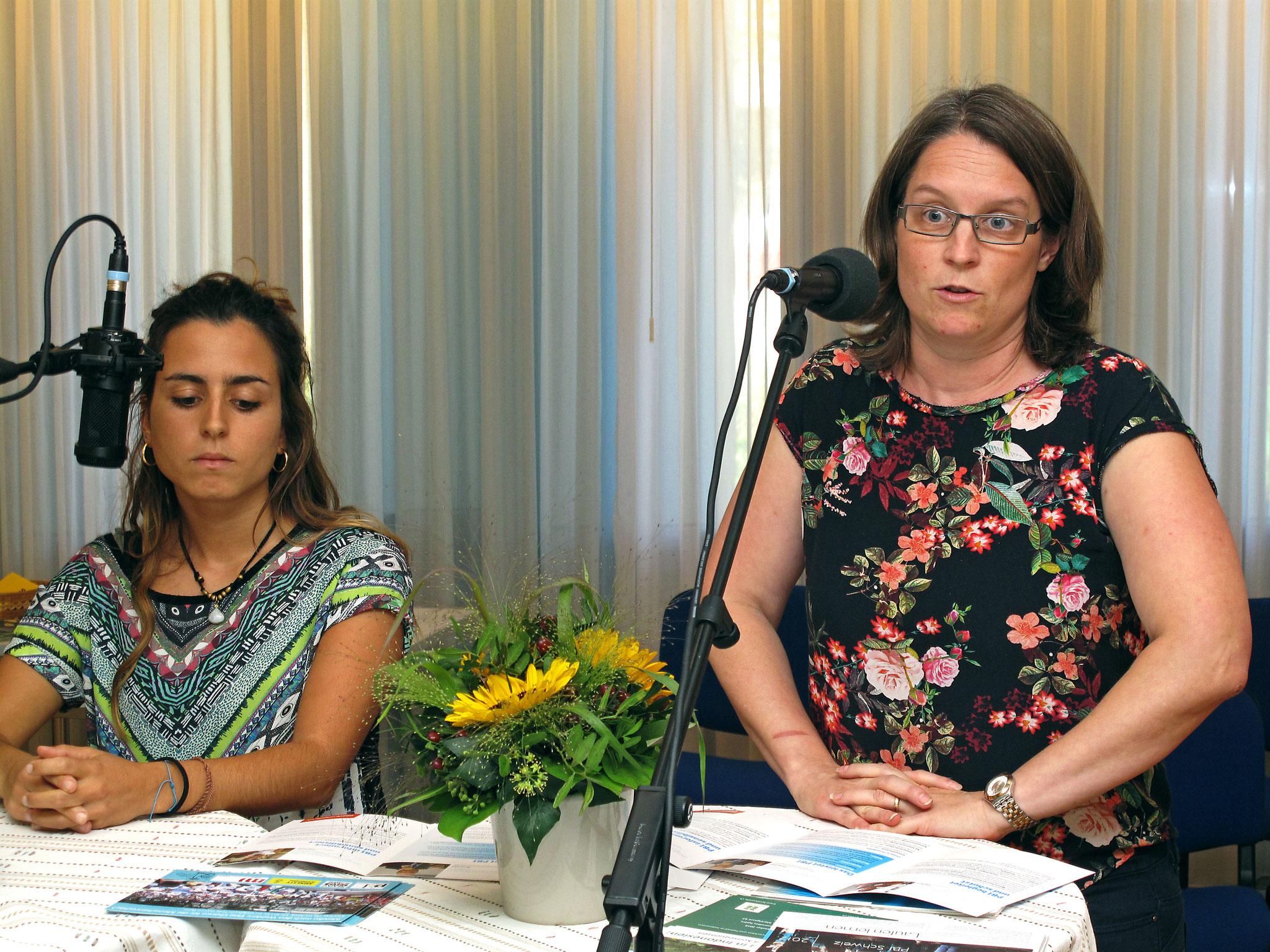 Frau Federica Busco und Andrea Nagel, Peacebrigade