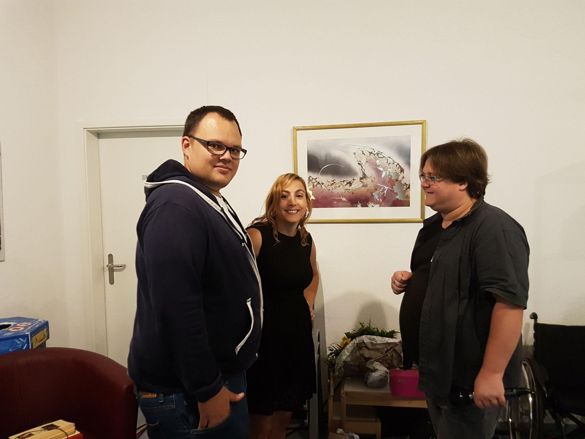 Carlyn mit den LOLY-Fachkräften