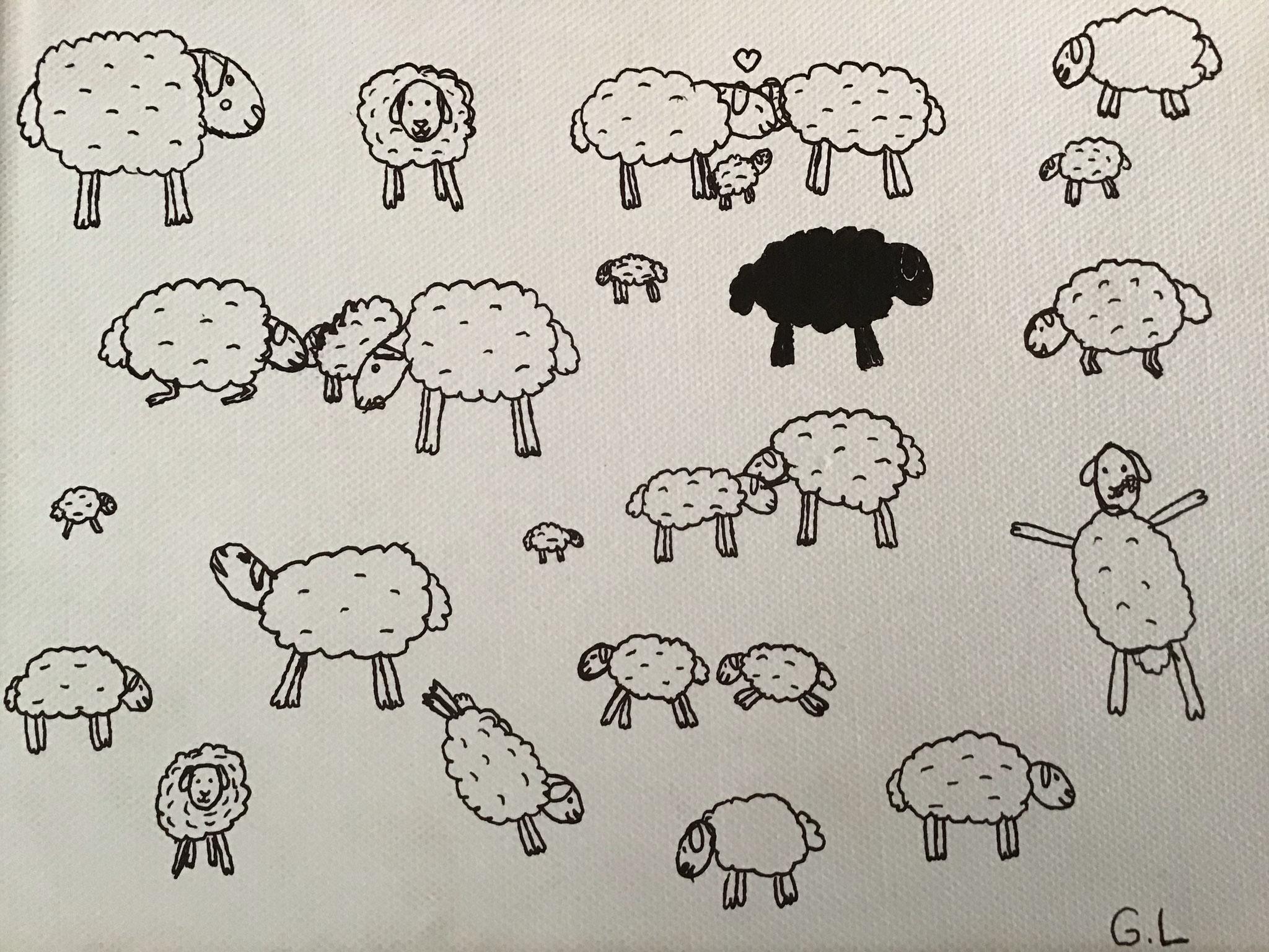 Zeichnung der Erlebnisschule Frutigtal