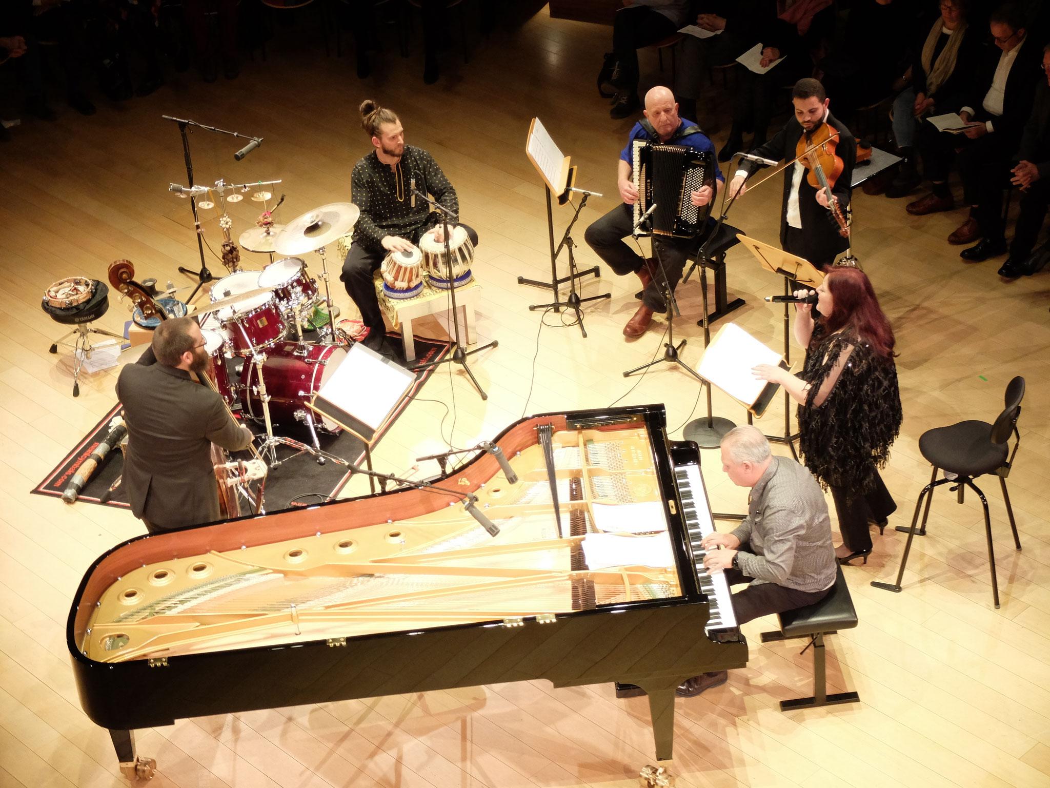 Mit Robert Landfermann, Bodek Janke, Jasser Haj Youssef, Dima Orsho und Salman Gambarov, Boulez-Saal Berlin