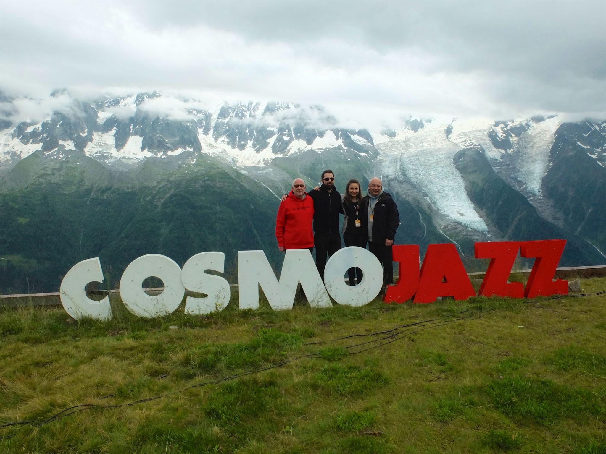Mit Basel Rajoub, Lynn Adib und Andrea Piccioni, Chamonix Montblanc