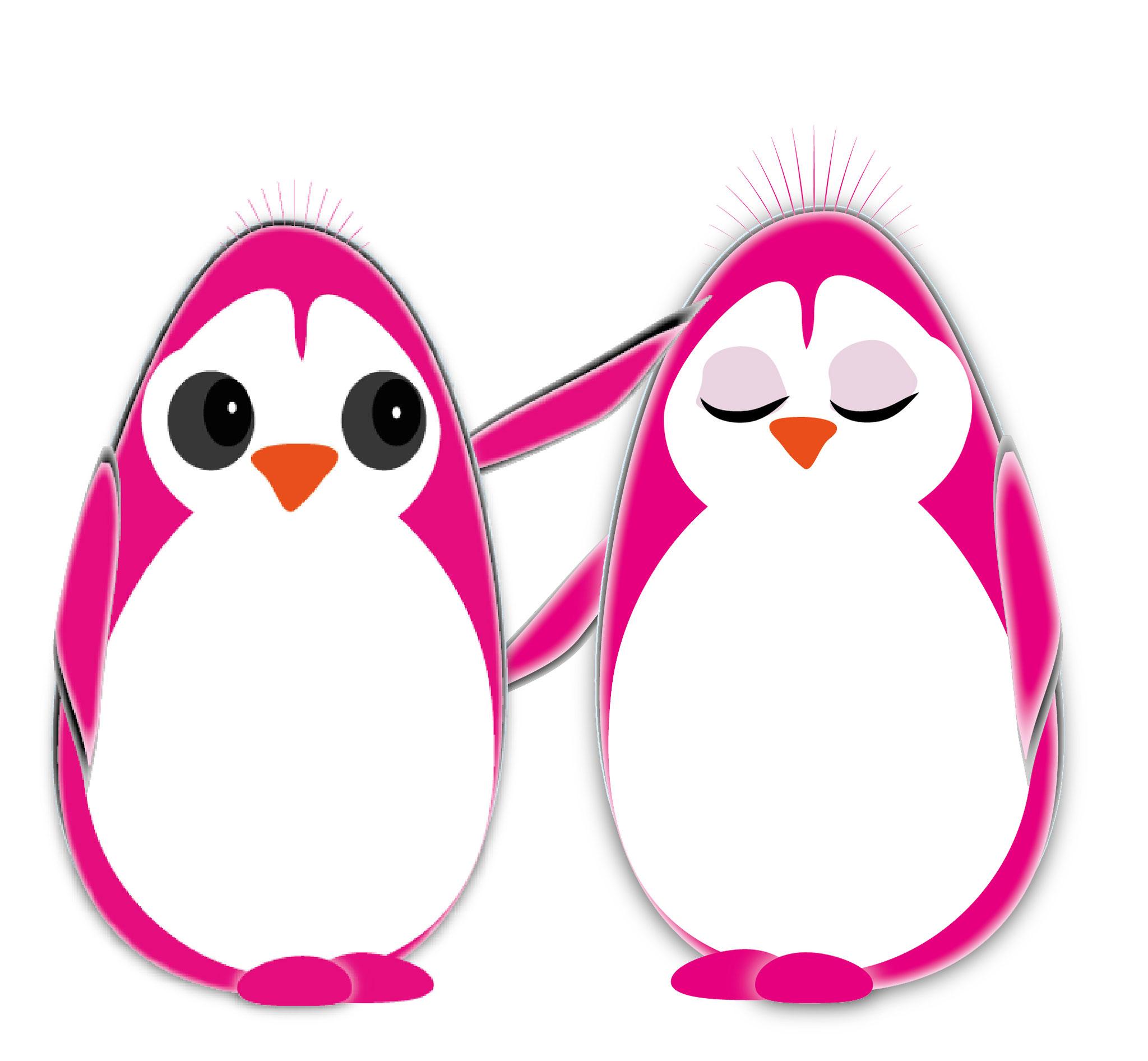 pareja rosa pingui