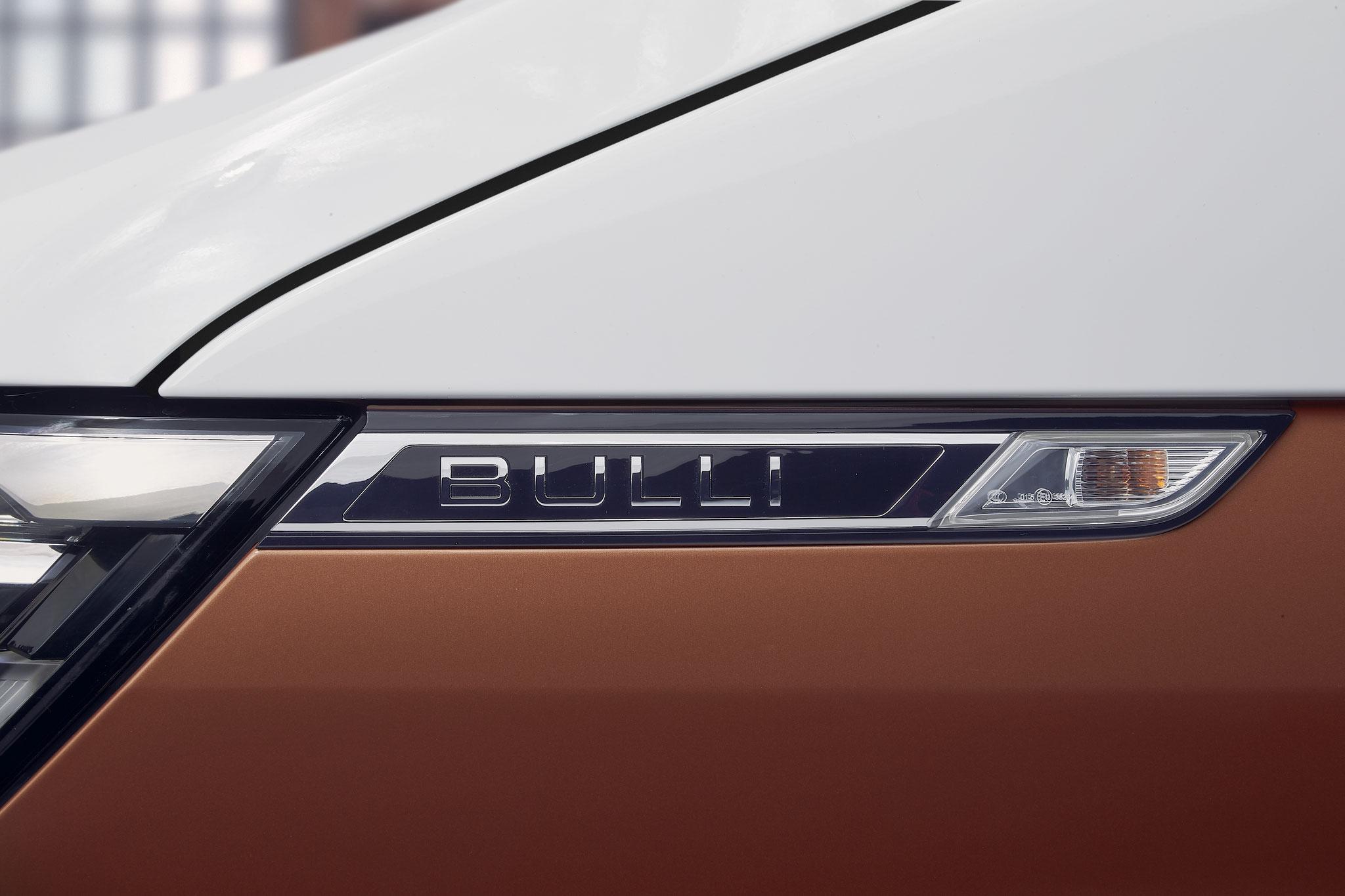 Bulli-Schriftzug. Jetzt möglich, weil VW vor ein paar Jahren die Namensrechte kaufen konnte.