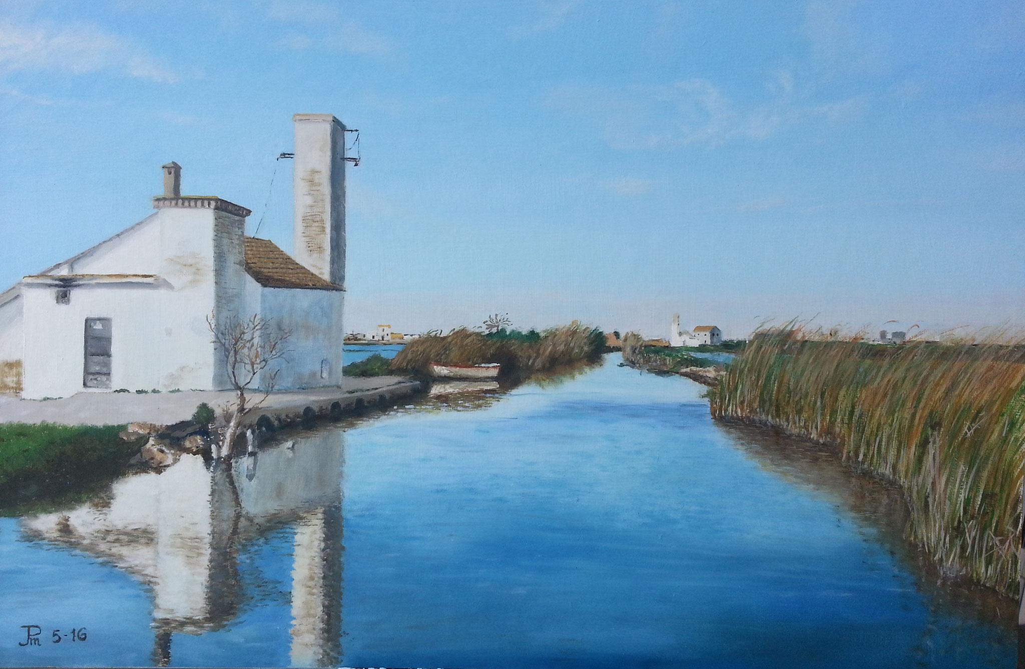 Casa blanca del canal
