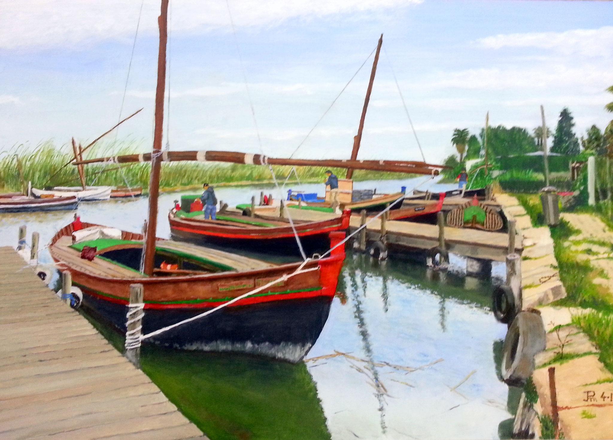 Barcas en  Puerto de El Palmar