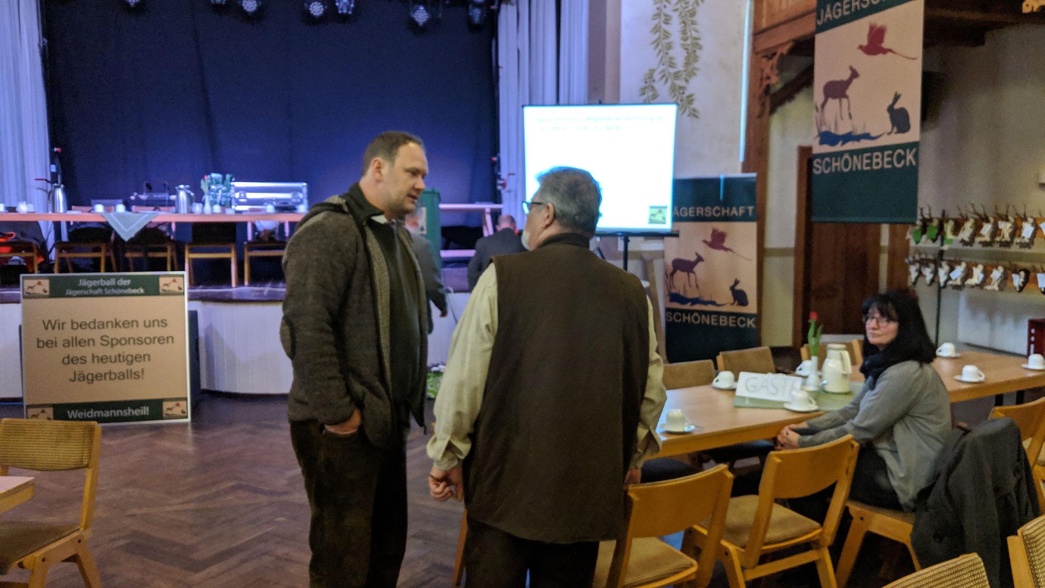 LJV Geschäftsfüher W. Florstedt im Gespräch