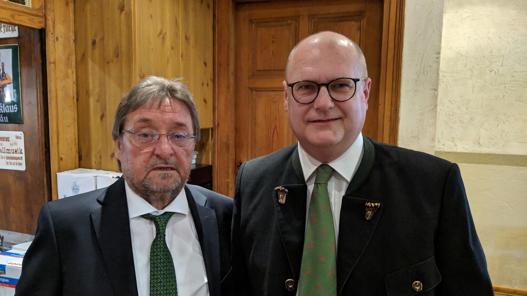 Werner Sinast - stellv. Vorsitzender der JS SBK und Jens Hennicke  - Kreisjägermeister des Salzlandes