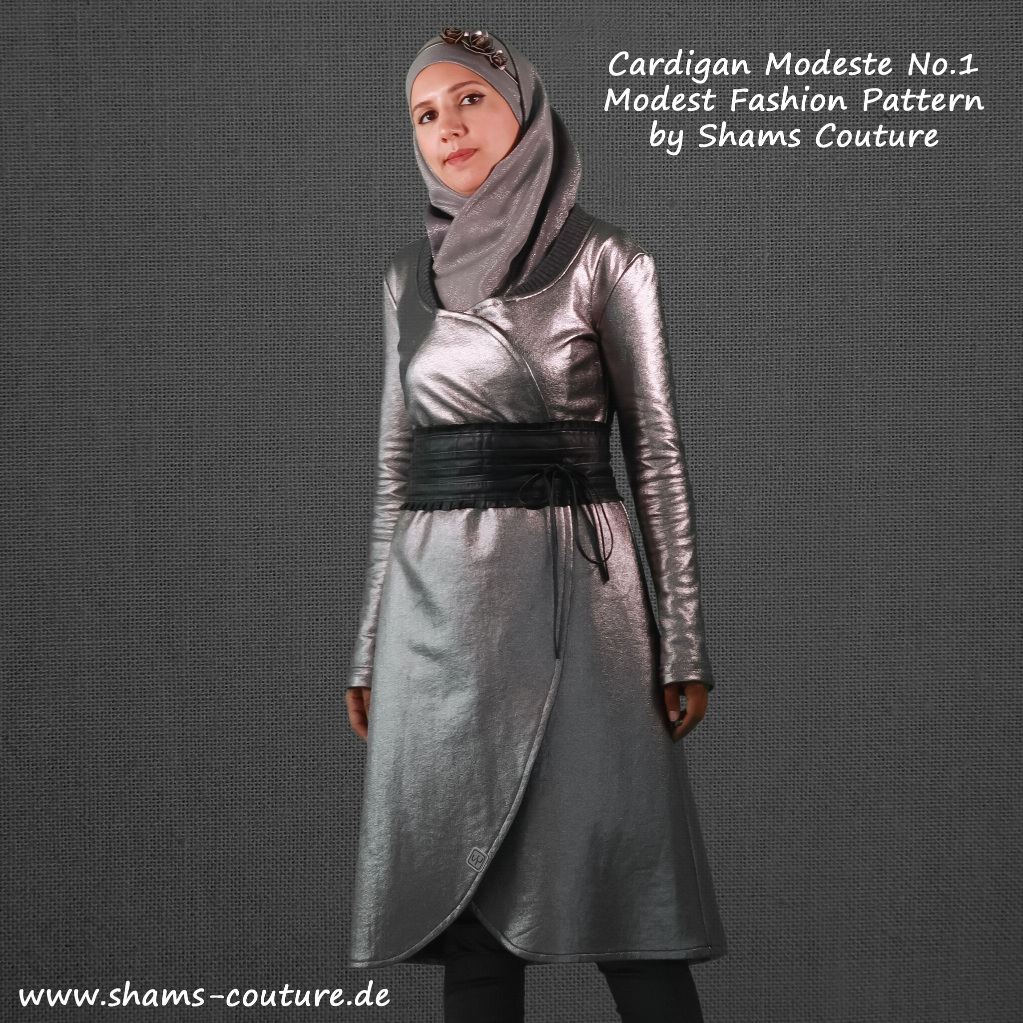 "Modest Fashion Schnittmuster ""Cardigan Modeste No.1"" von Shams Couture"