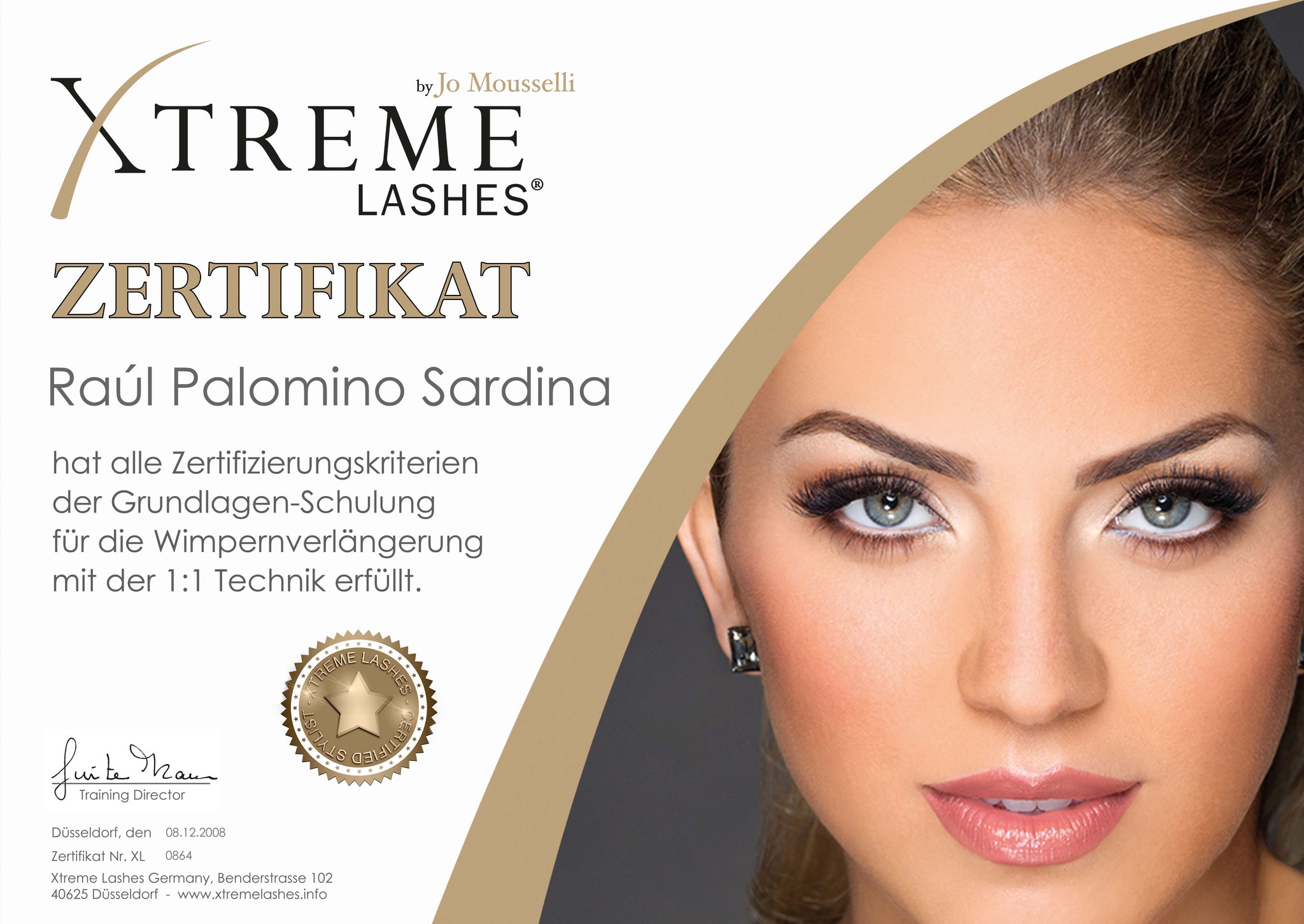 Xtreme Lashes® Zertifikat Basis-Schulung