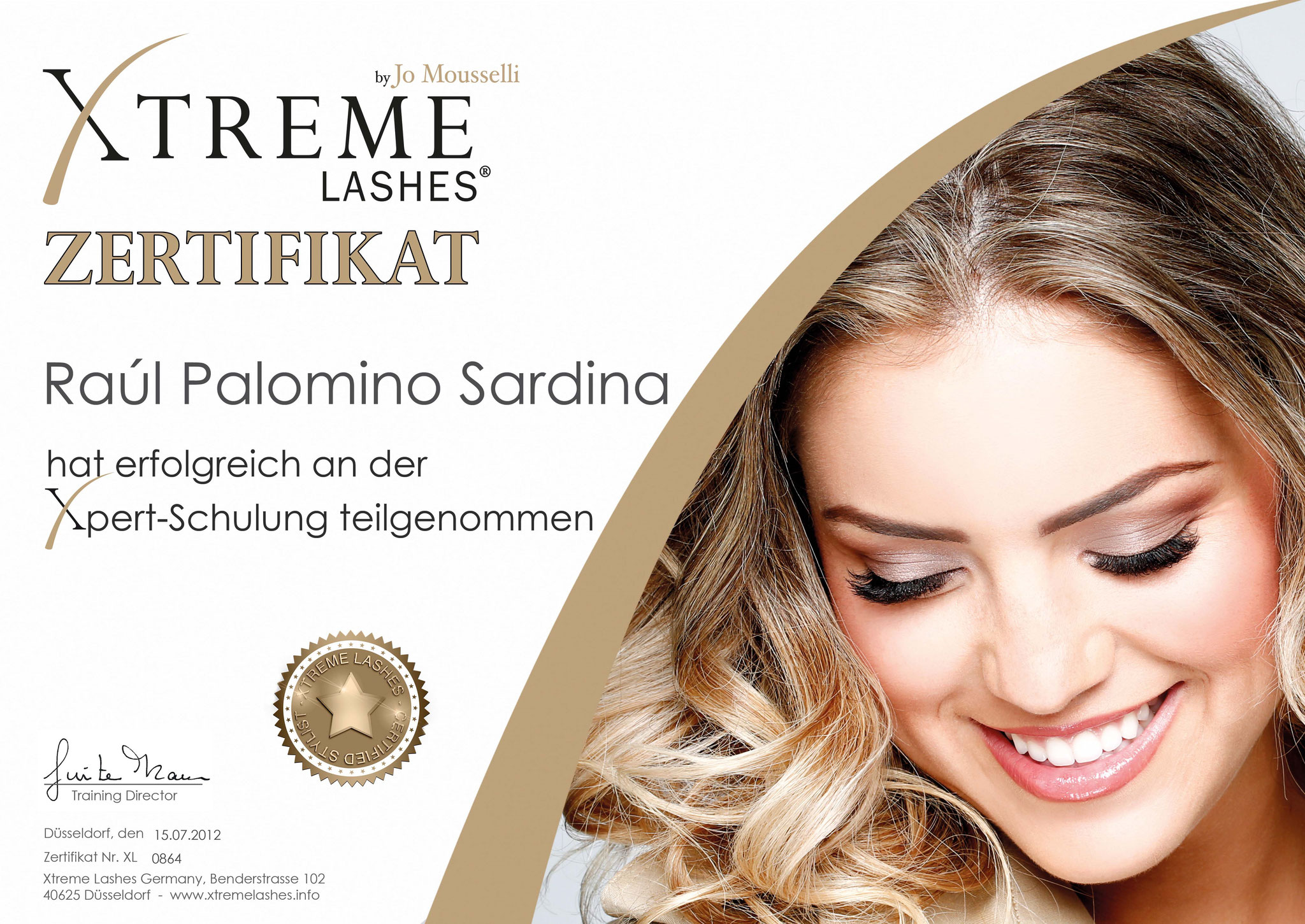 Xtreme Lashes® Zertifikat Xpert-Schulung