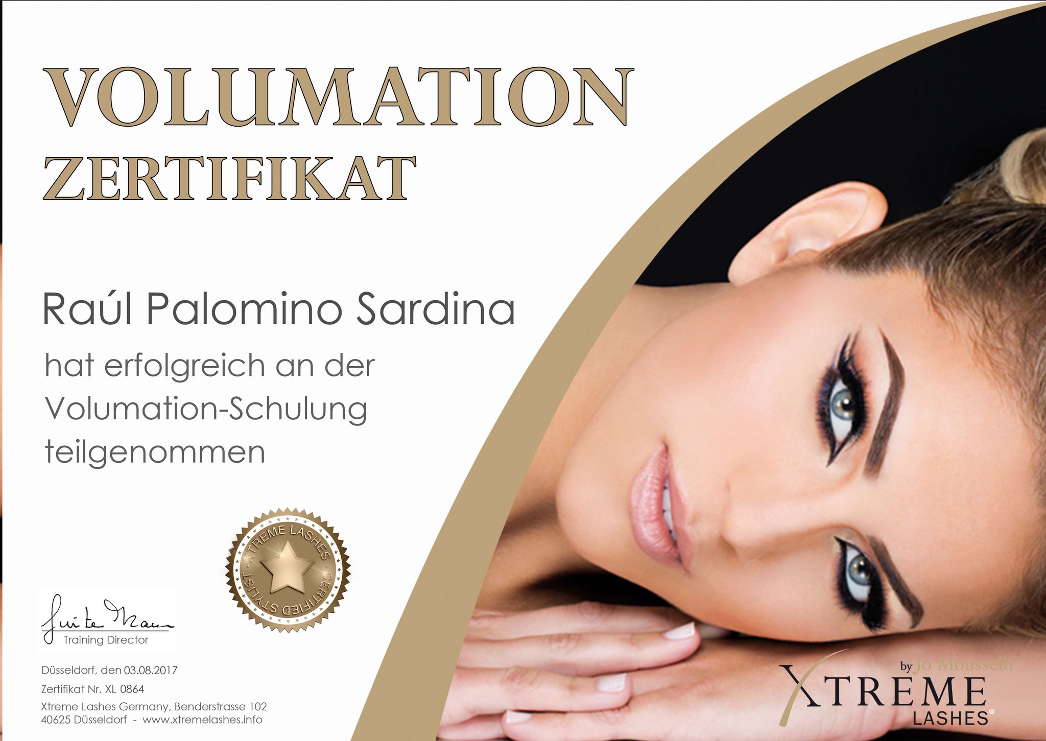 Xtreme Lashes® Zertifikat Volumation-Schulung