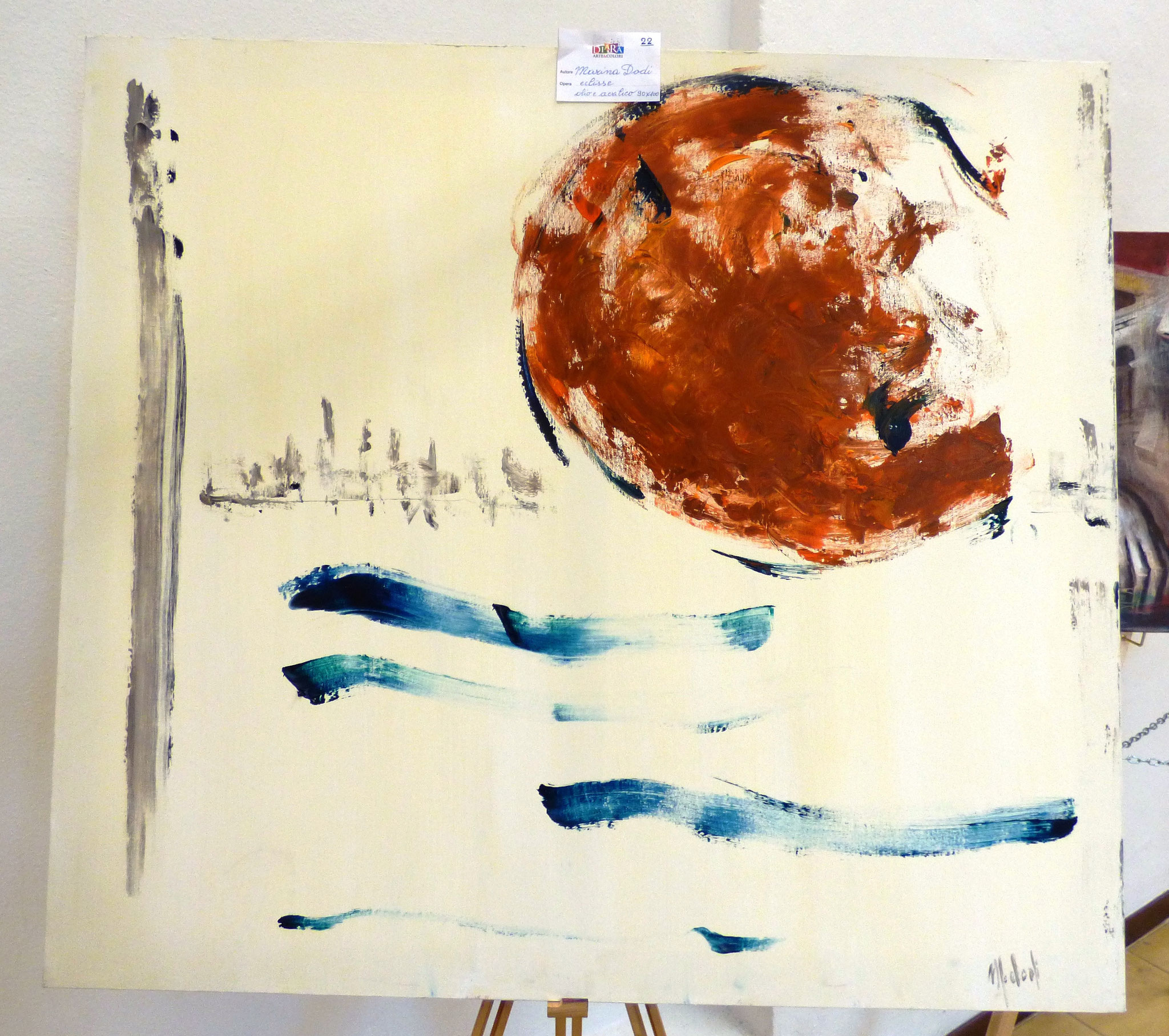 Marina Dodi eclisse olio e acrilico 90x100