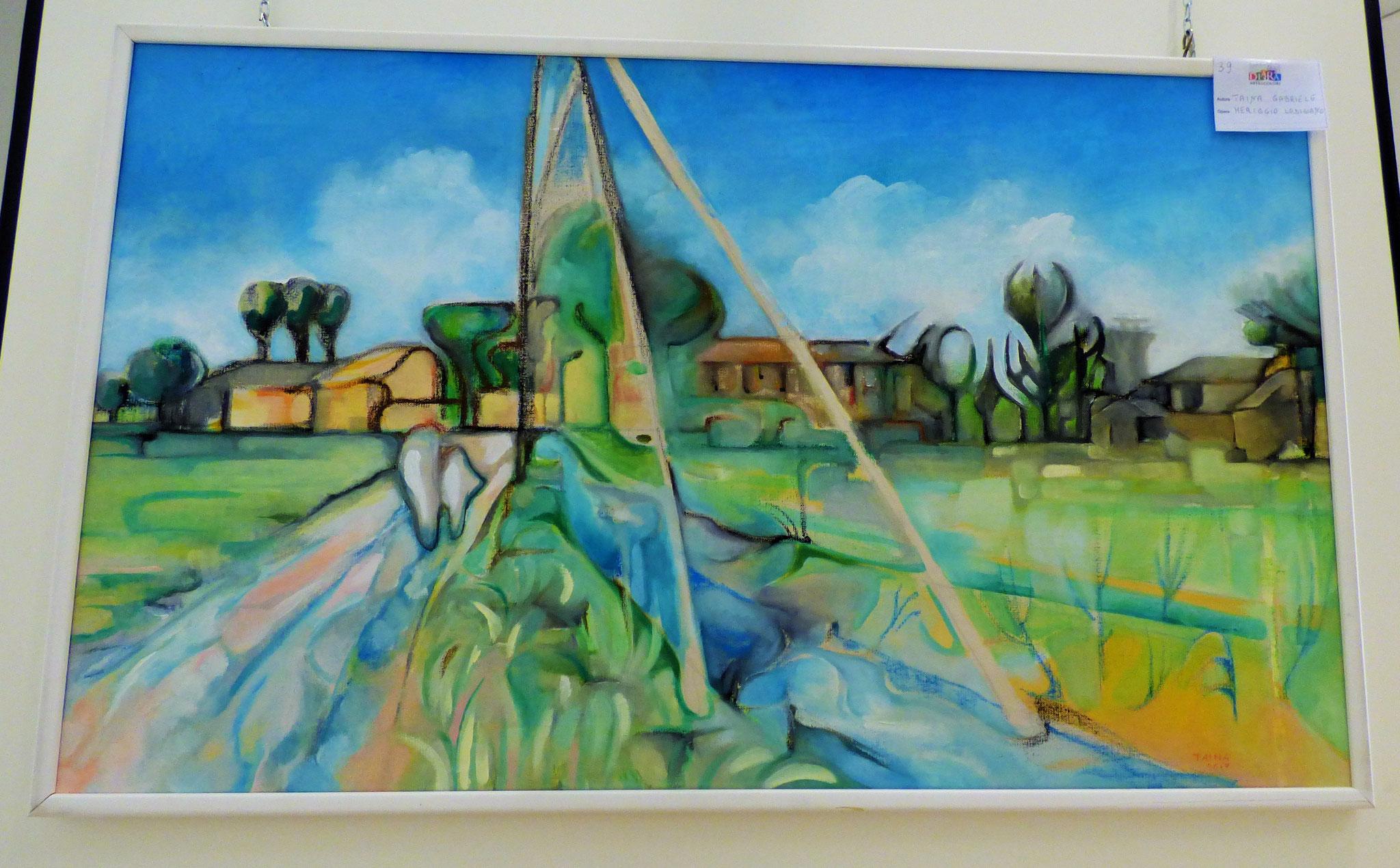 Rivergaro: DIARA Arte & Colori - IV concorso di Pittura ed.2018 - Taina Gabriele - Meriggio Lodigiano