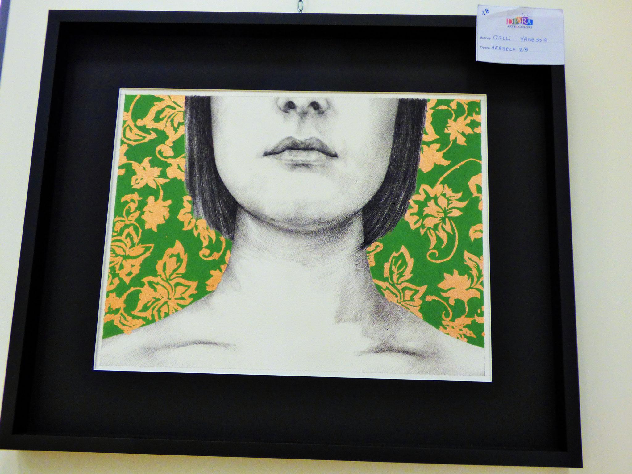 Per raffinatezza e eleganza Segnalata - Rivergaro: DIARA Arte & Colori - IV concorso di Pittura ed.2018 - Galli Vanessa - Herself 2/5