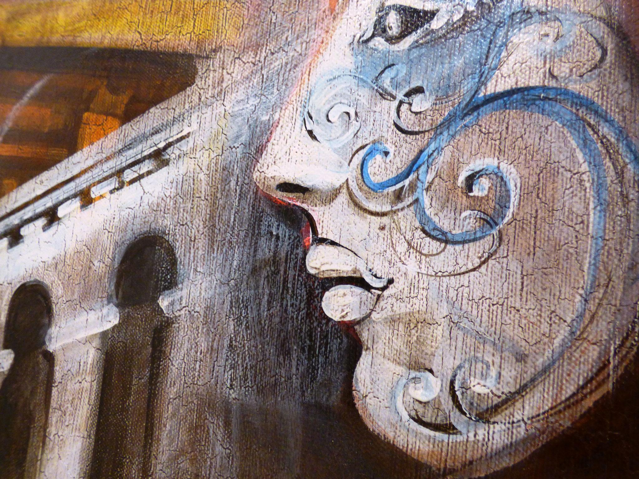 particolare Massimo Chiesa le veneziane olio su tela 60x90