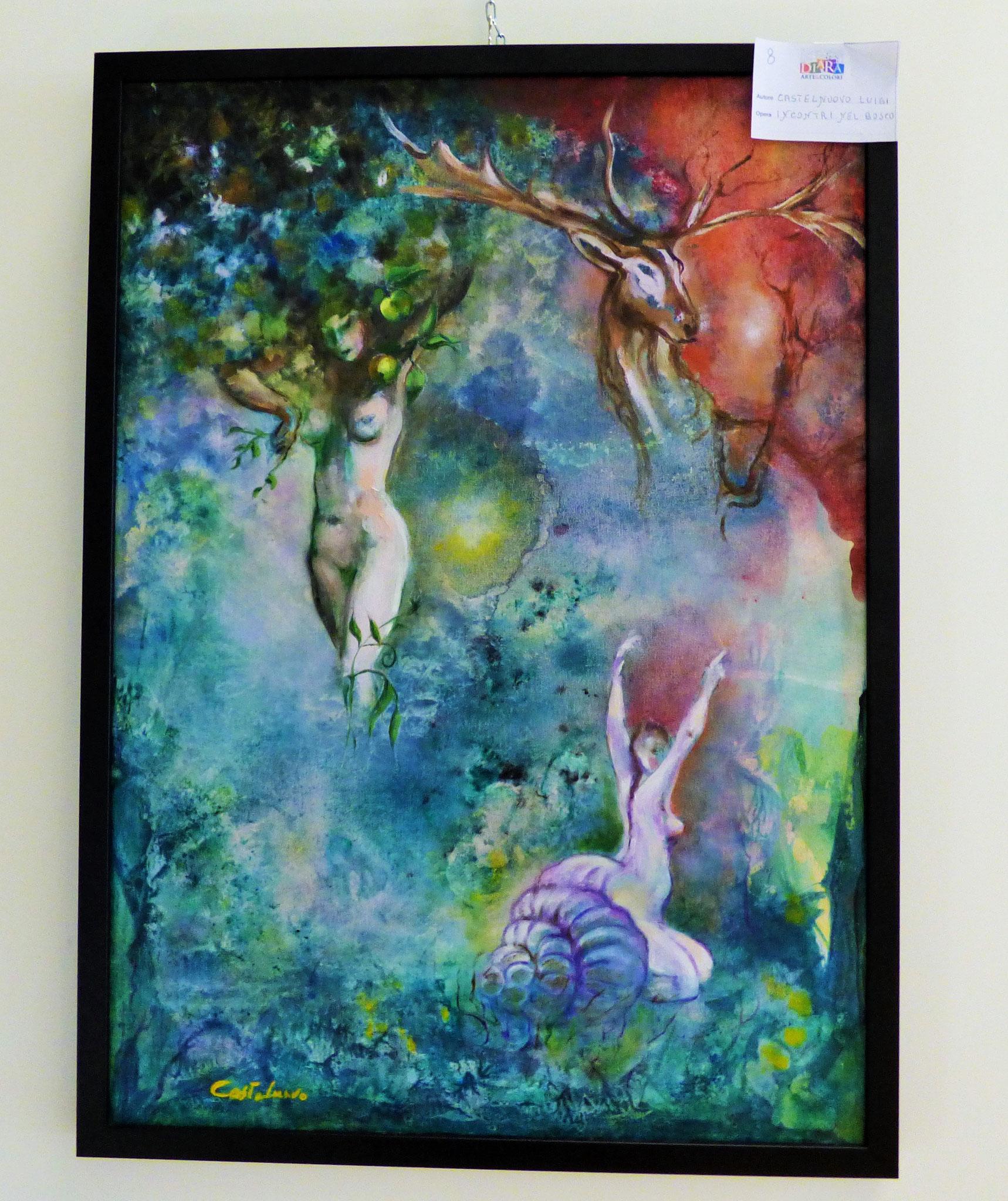 Rivergaro: DIARA Arte & Colori - IV concorso di Pittura ed.2018 - Castelnuovo Luigi - Incontri nel Bosco