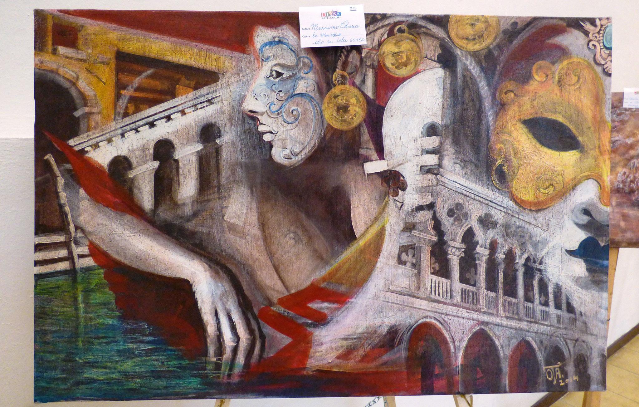 Massimo Chiesa le veneziane olio su tela 60x90