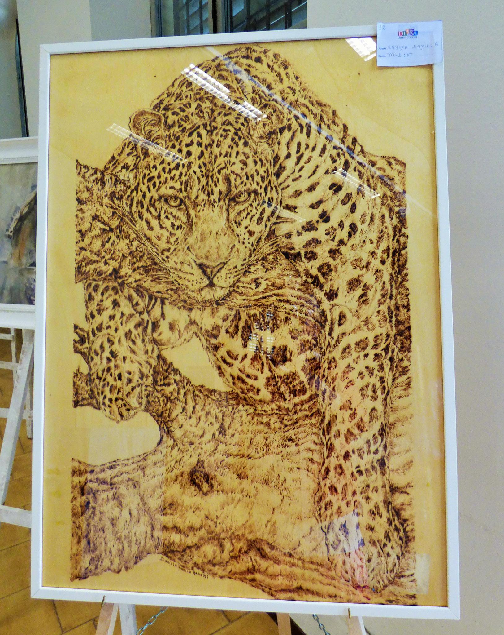 Rivergaro: DIARA Arte & Colori - IV concorso di Pittura ed.2018 - Ramina Daniela - Wild Cat