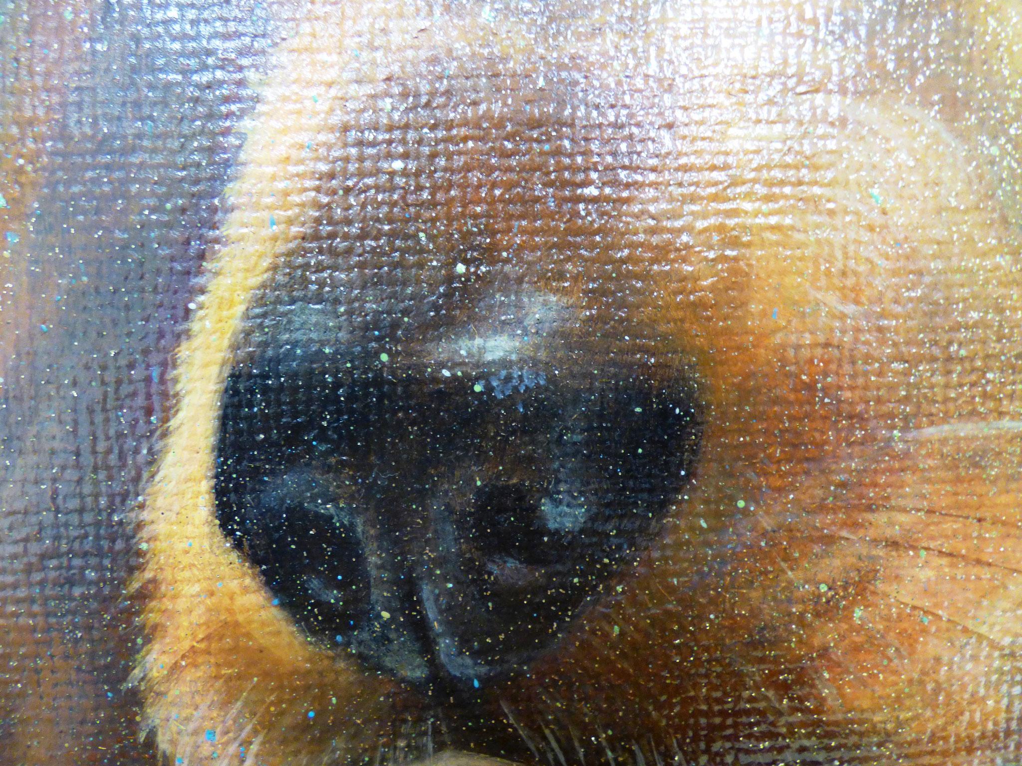 particolare Maria Grazia Calamita sharon olio su tela 50x70