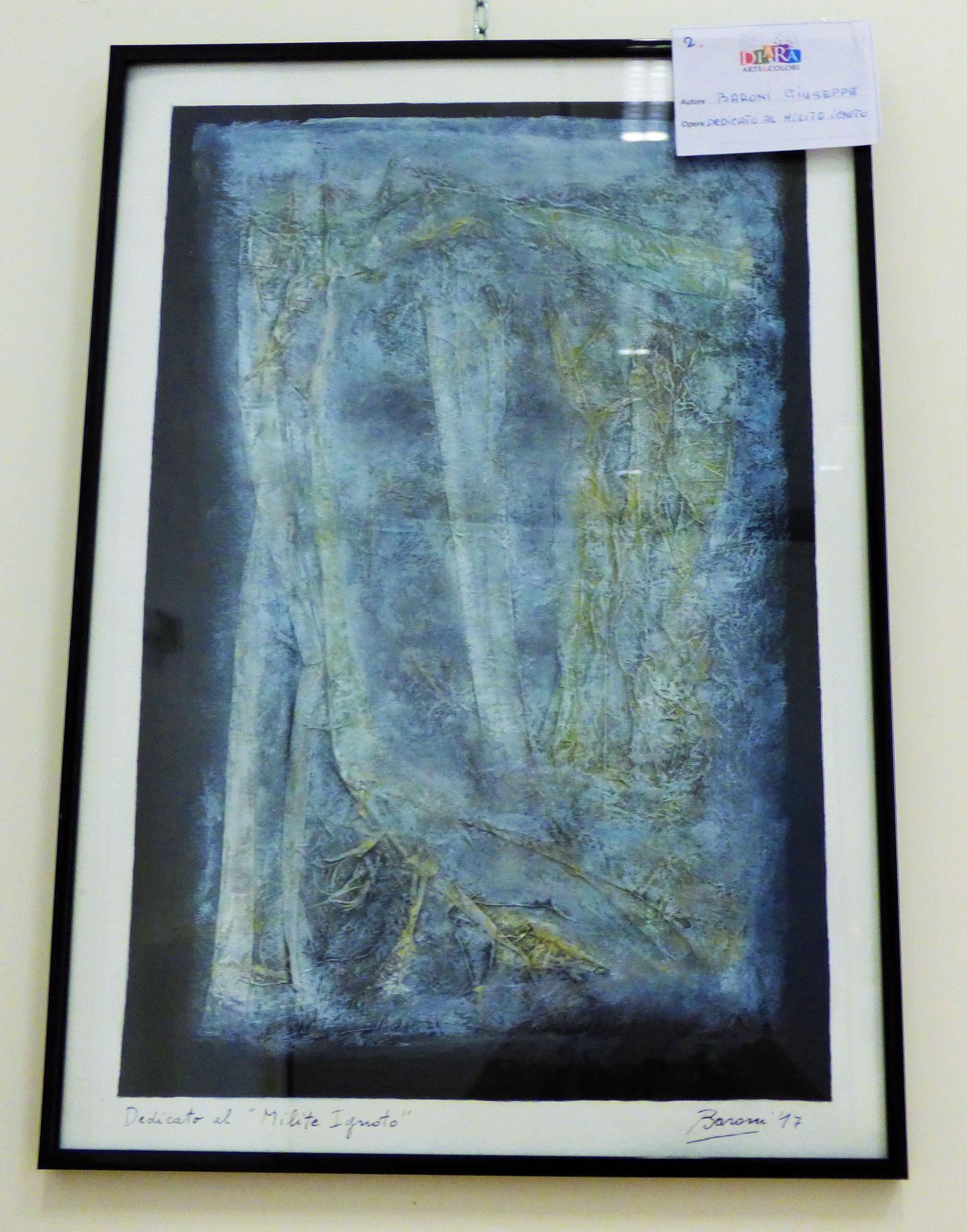Rivergaro: DIARA Arte & Colori - IV concorso di Pittura ed.2018 - Baroni Giuseppe - Dedicato al Milite ignoto