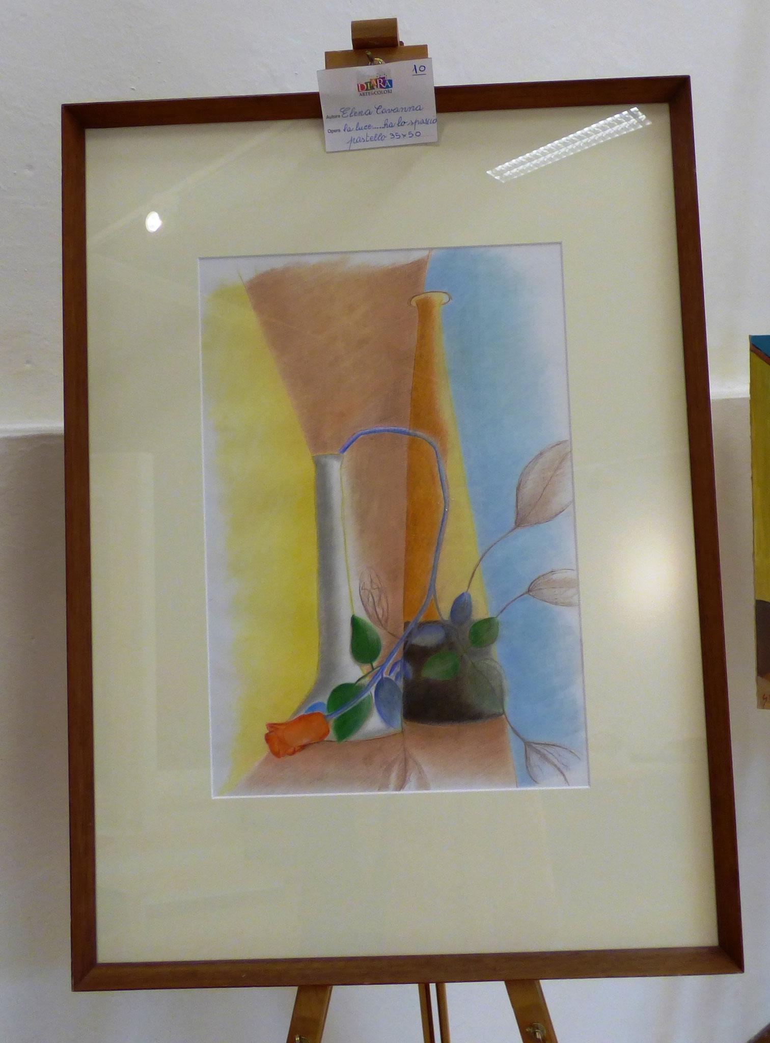 Elena Cavanna la luce ha lo spazio pastello 35x50