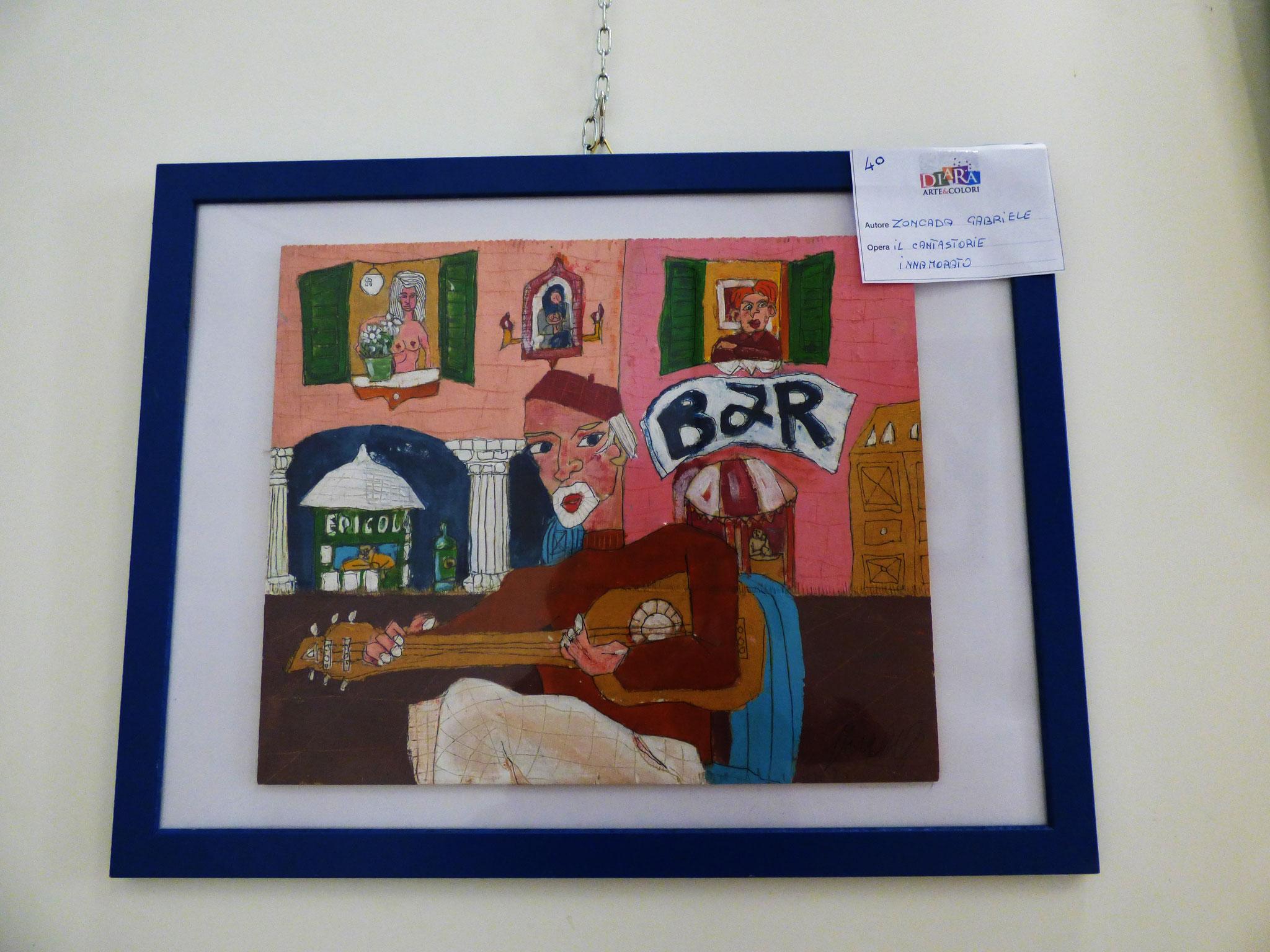 Rivergaro: DIARA Arte & Colori - IV concorso di Pittura ed.2018 - Zoncada Gabriele - Il cantastorie innamorato